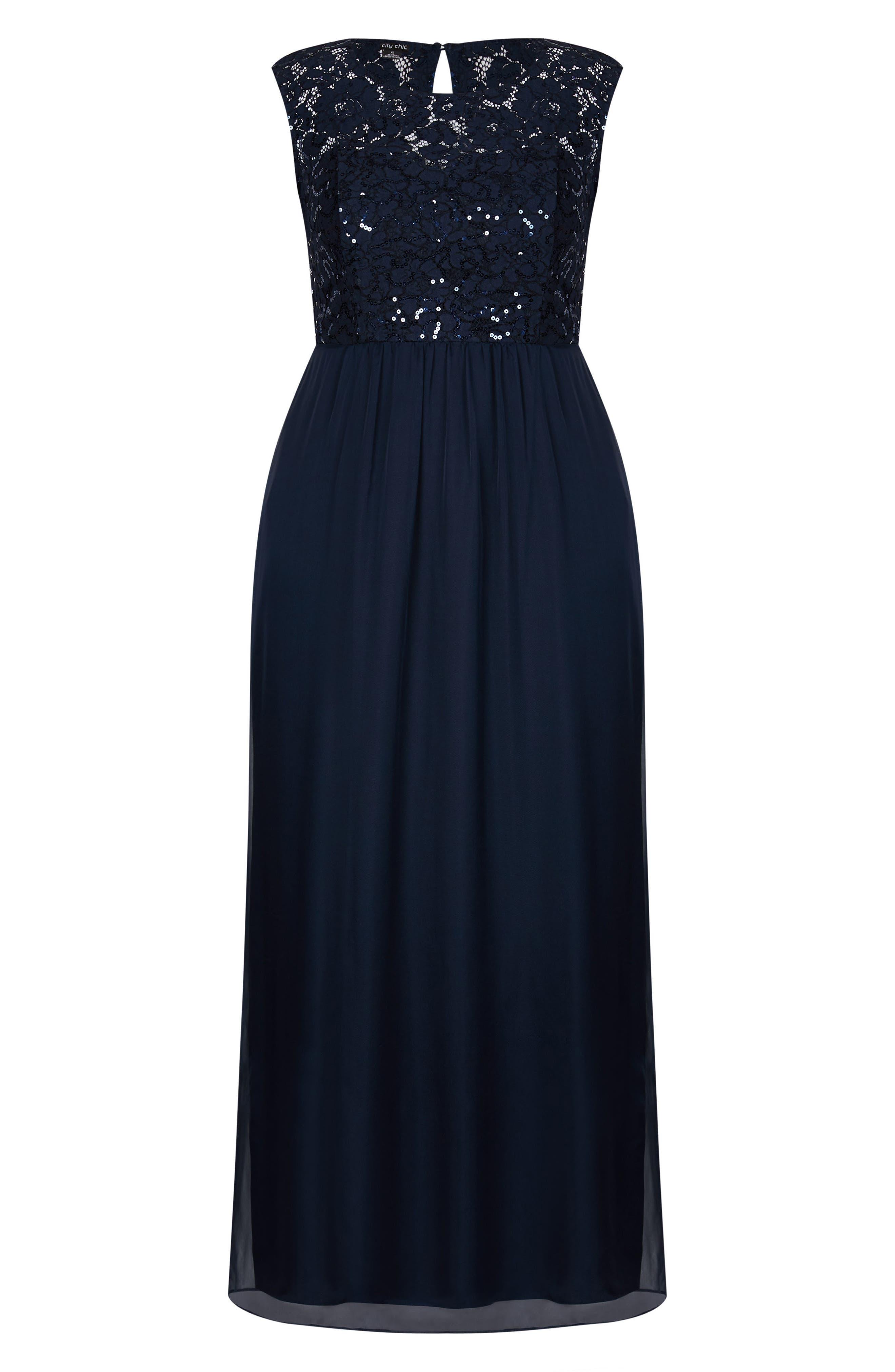 Sweet Love Maxi Dress,                             Alternate thumbnail 3, color,                             Navy