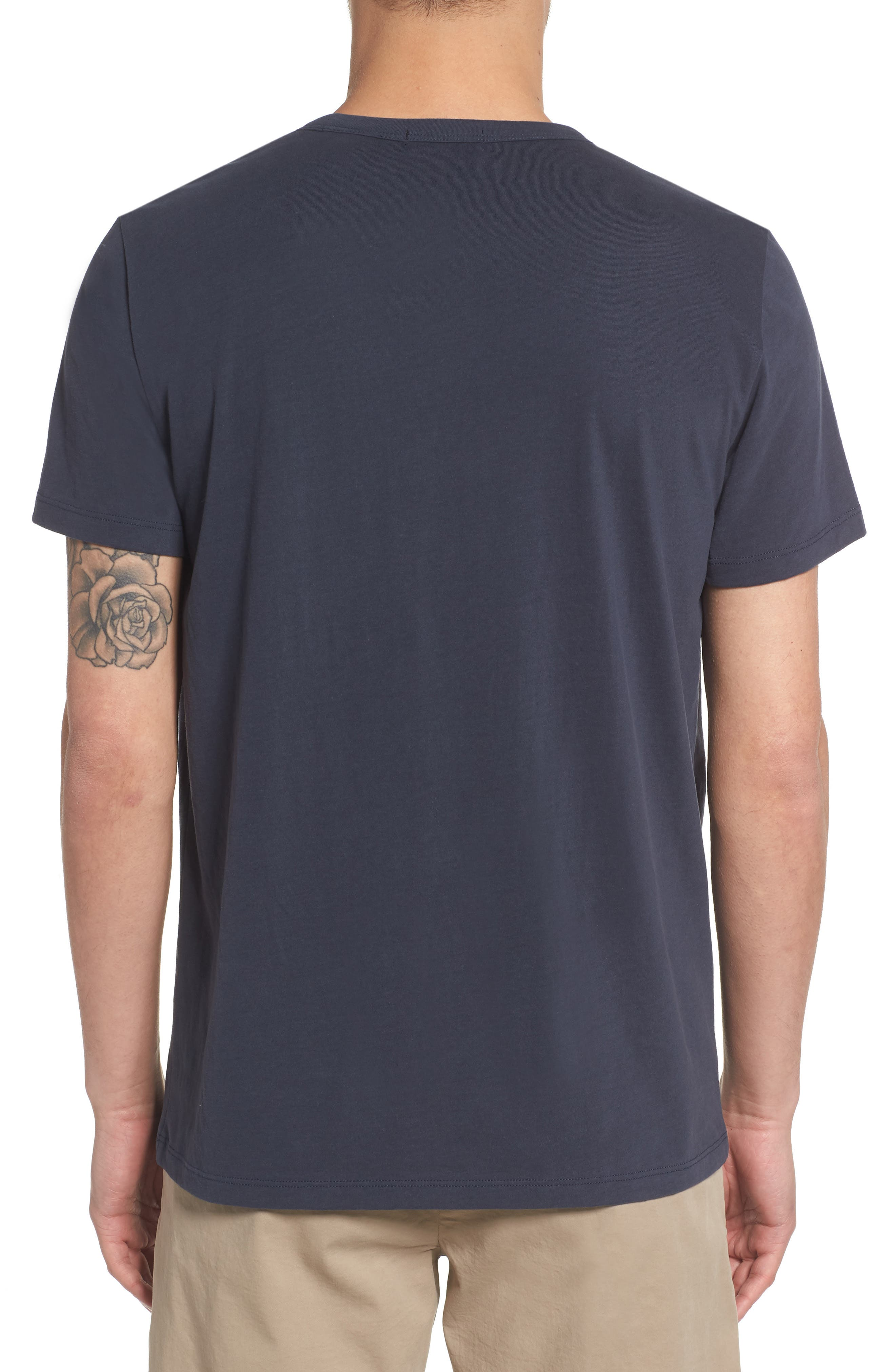 Essential Pocket T-Shirt,                             Alternate thumbnail 2, color,                             Finch