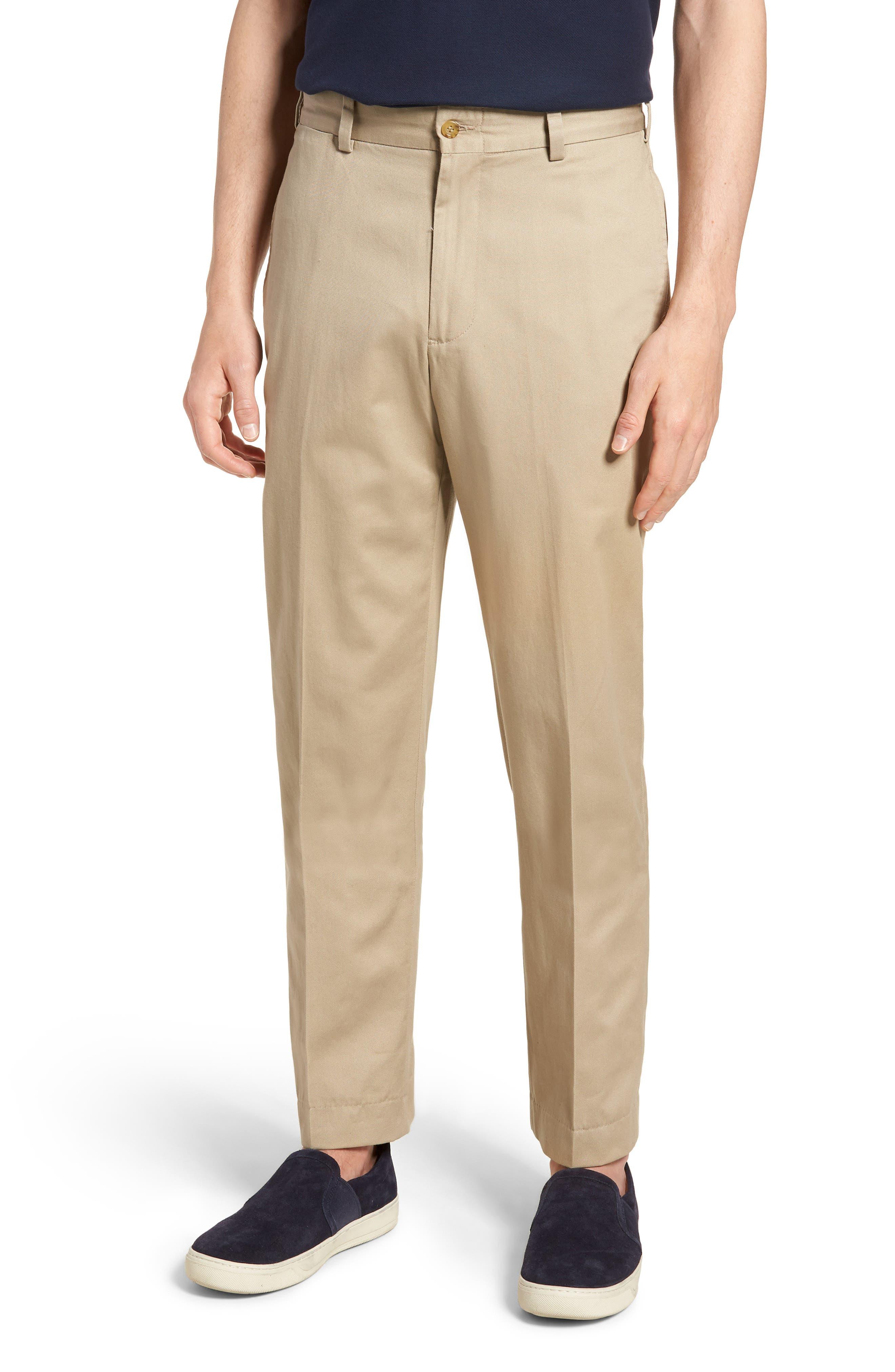 M2 Classic Fit Vintage Twill Flat Front Pants,                         Main,                         color, Khaki