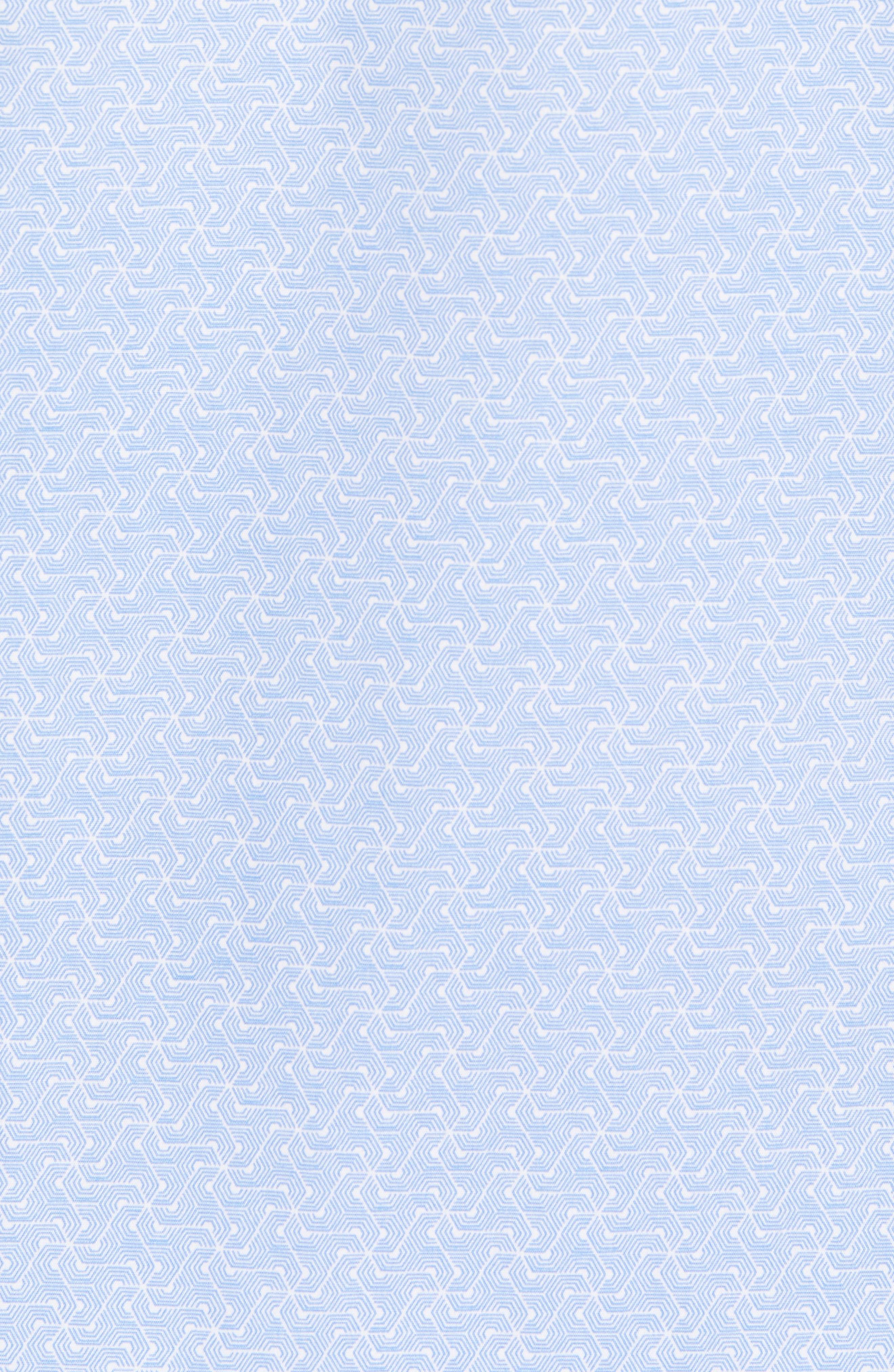 Beckham Regular Fit Plaid Sport Shirt,                             Alternate thumbnail 5, color,                             Light Blue
