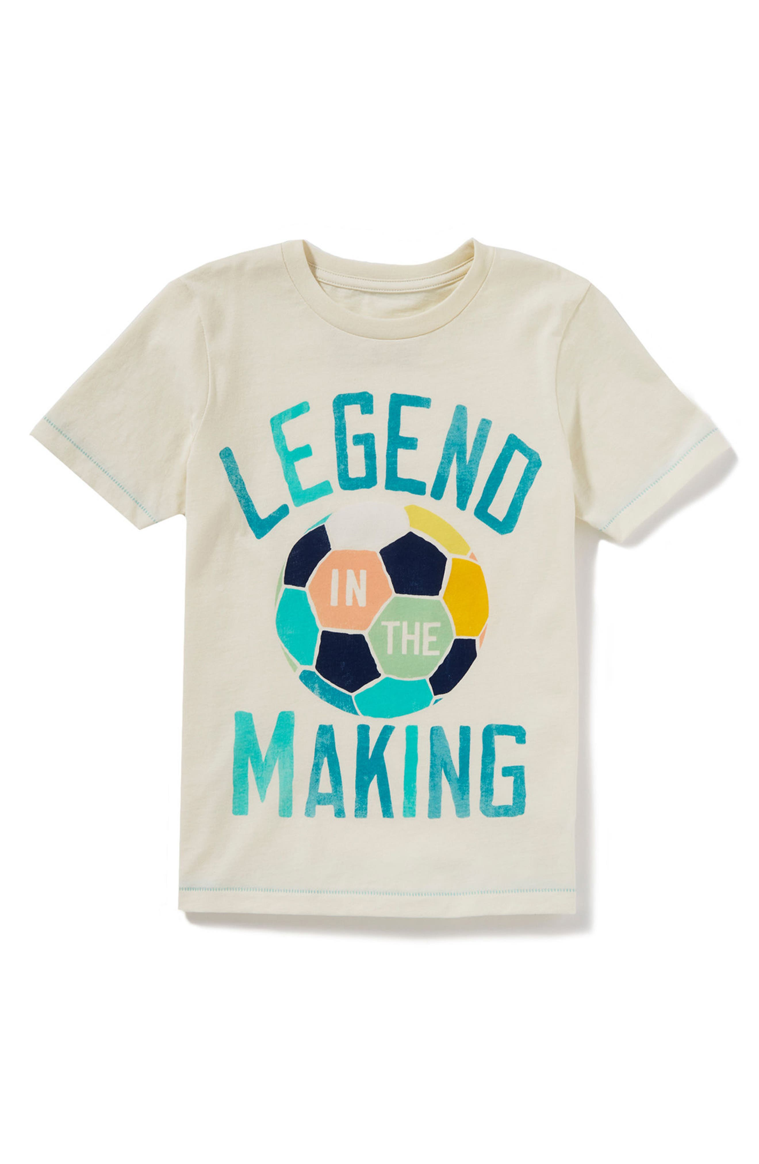 Legend in the Making Graphic T-Shirt,                         Main,                         color, Ivory