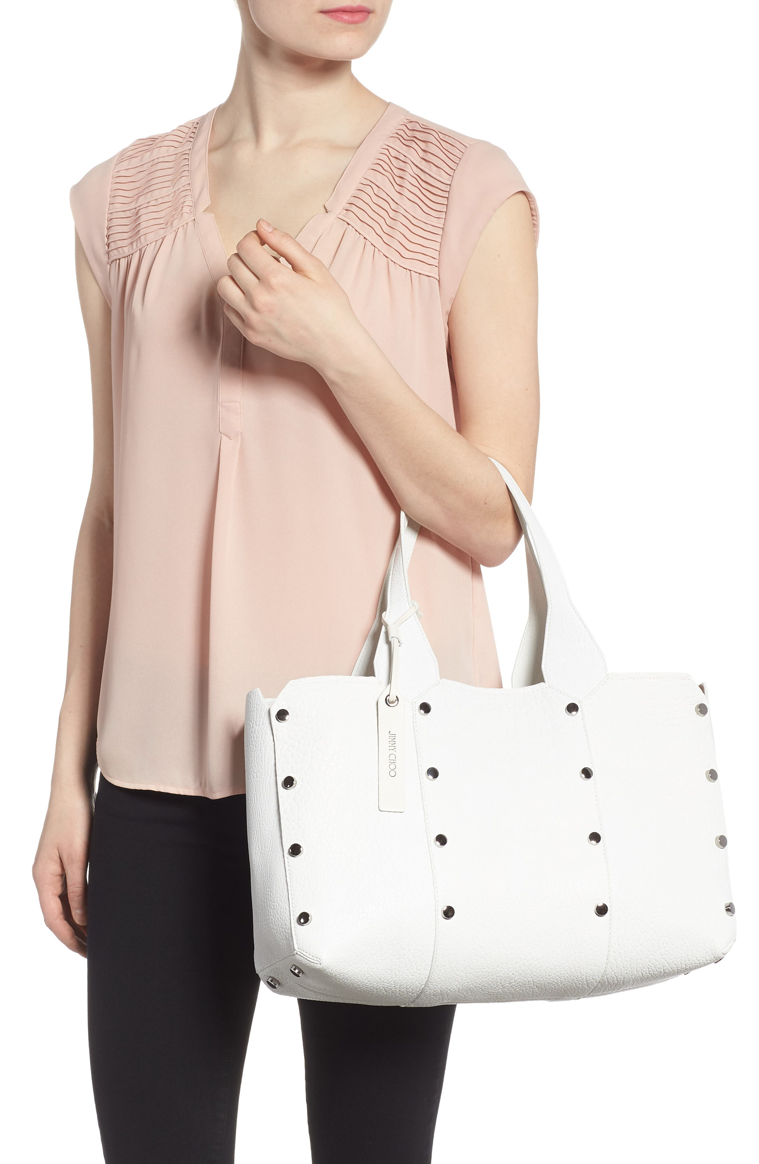 Alternate Image 2  - Jimmy Choo Lockett Leather Shopper