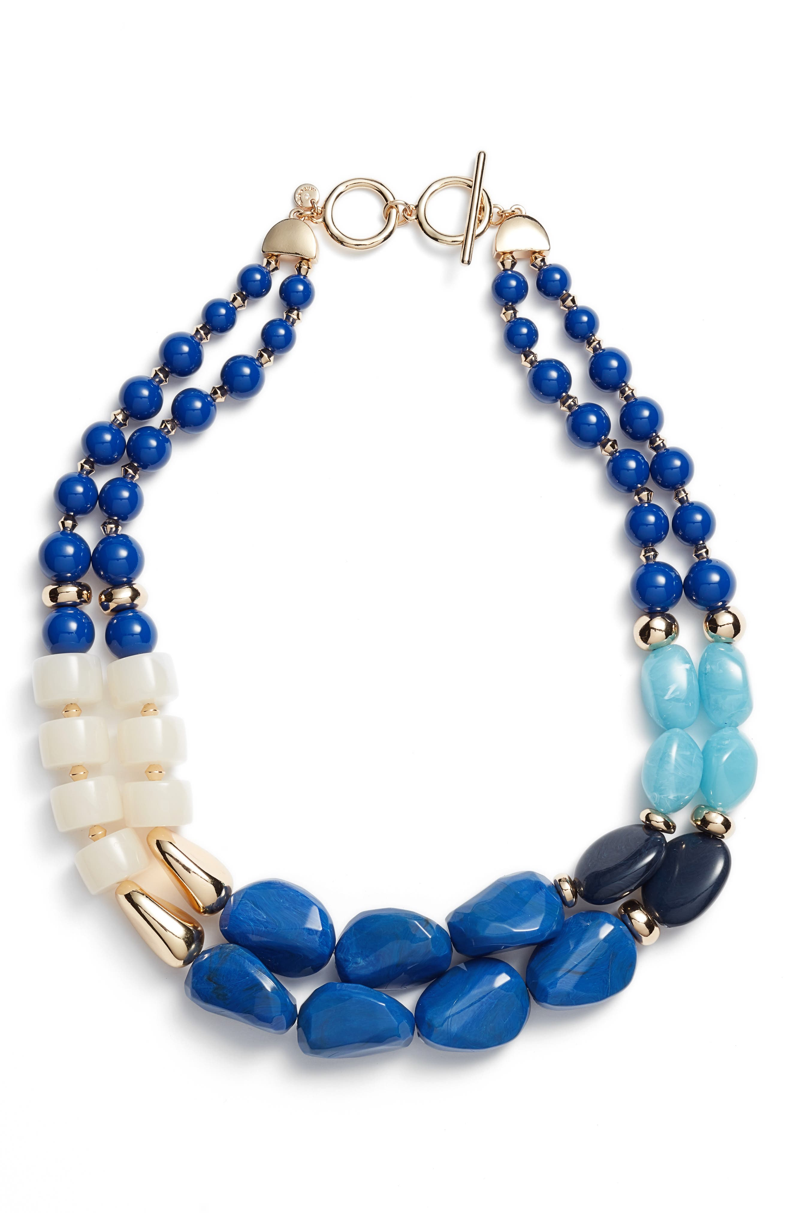 Halogen® Dual Strand Beaded Necklace