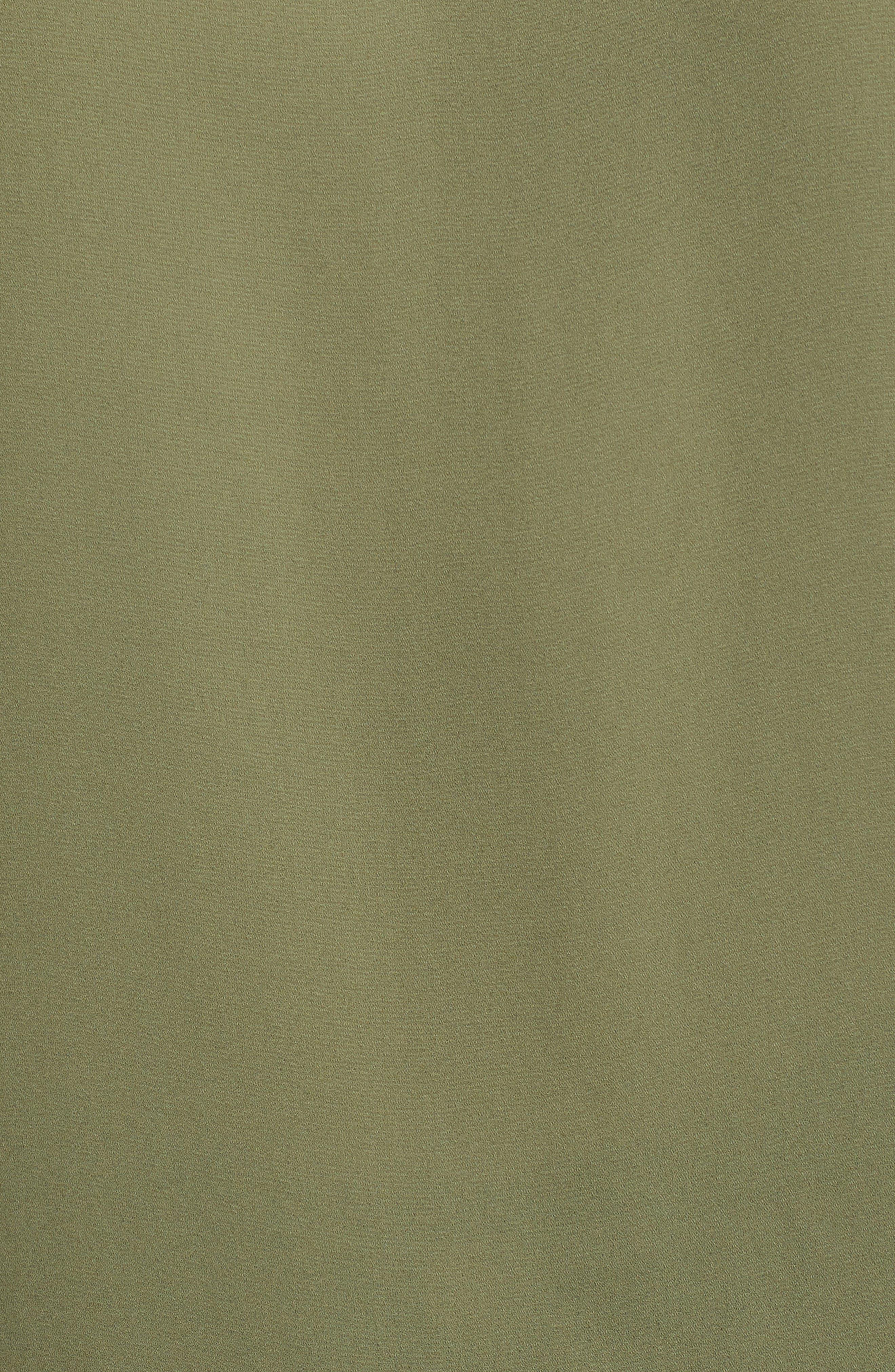 J.Crew Drapey V-Neck Ruffle Top,                             Alternate thumbnail 6, color,                             Tawny Olive