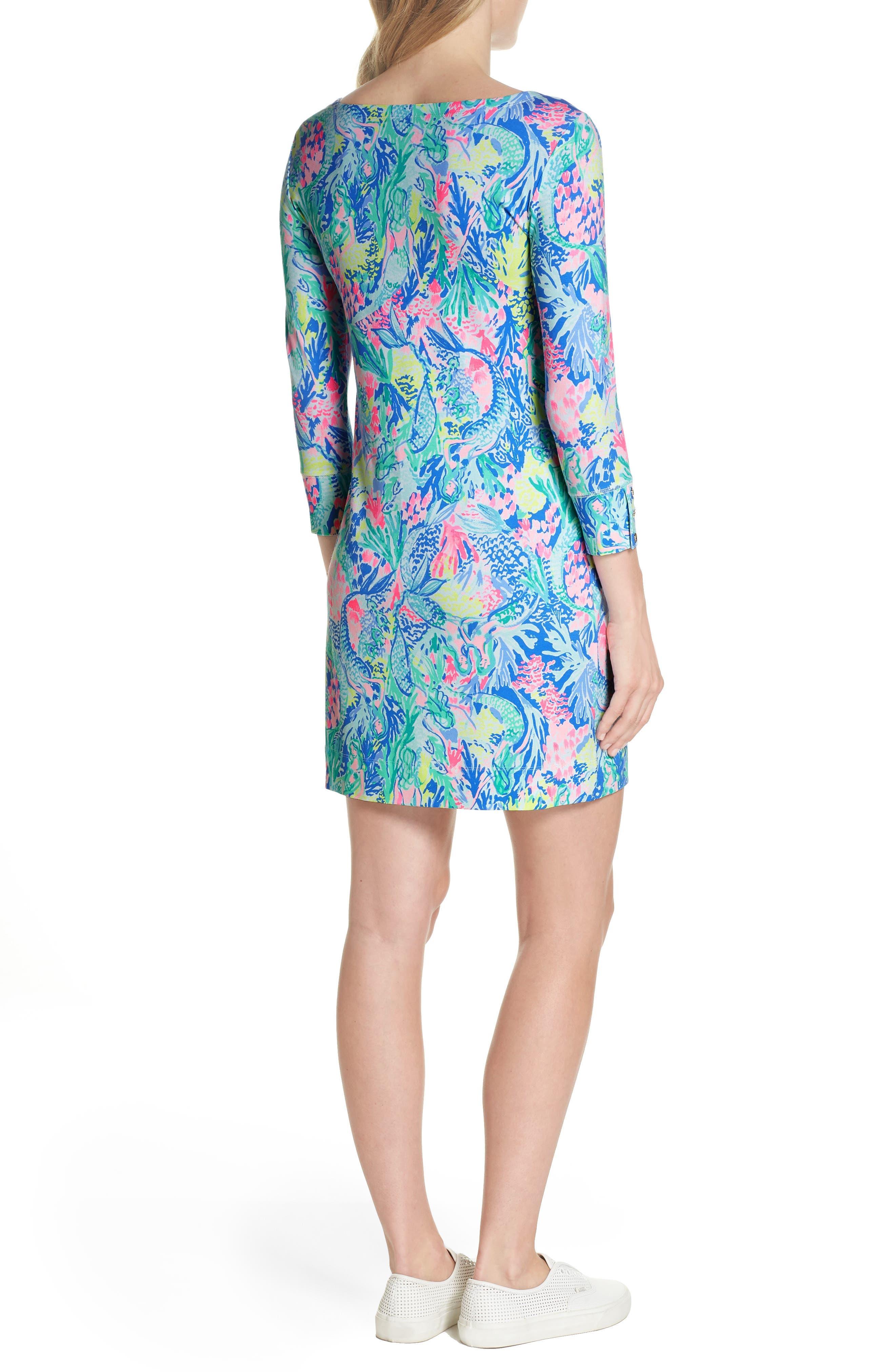 Sophie UPF 50+ Shift Dress,                             Alternate thumbnail 2, color,                             Multi Mermaids Cove