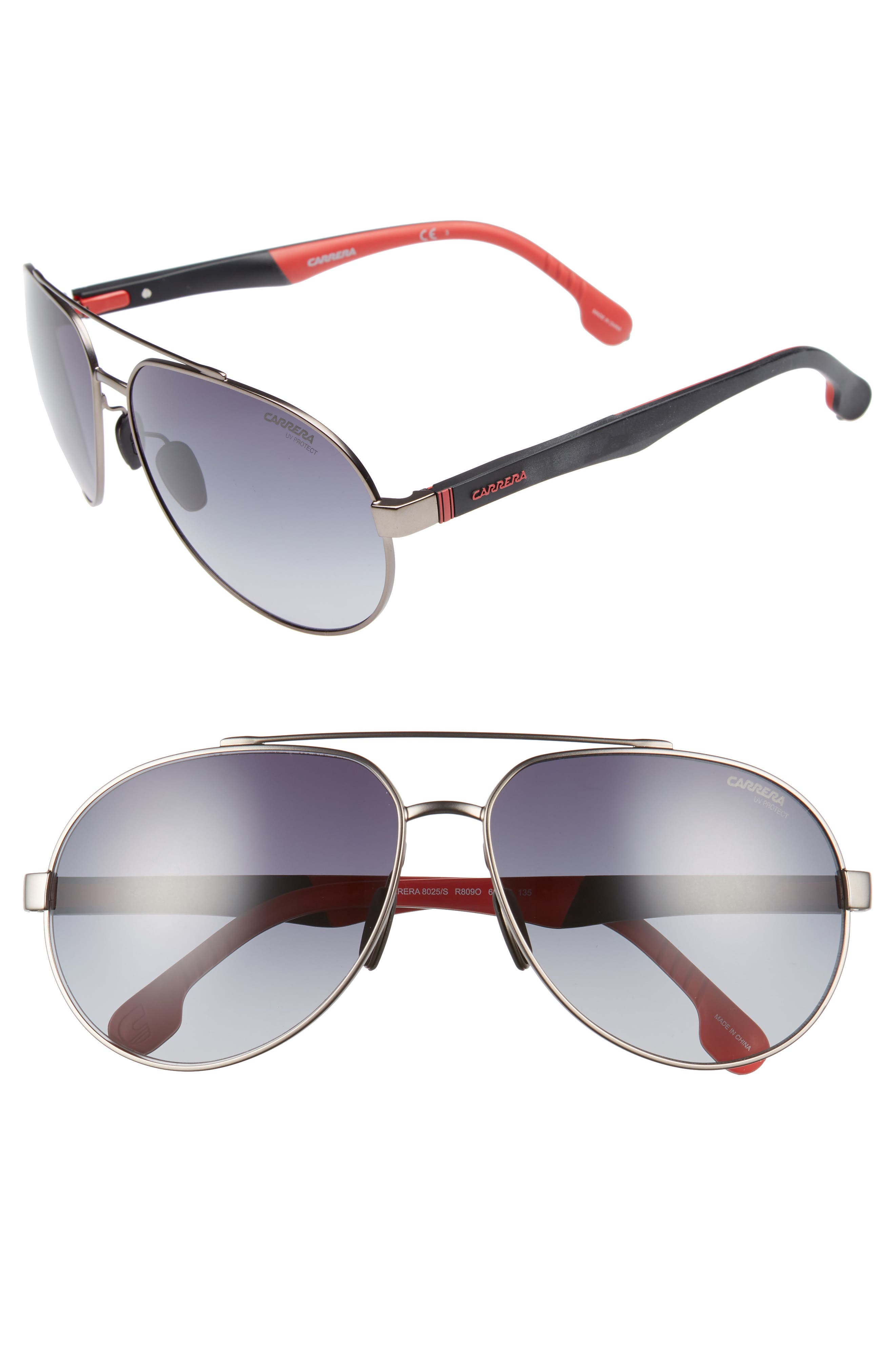 Carrera Eyewear 63mm Polarized Aviator Sunglasses