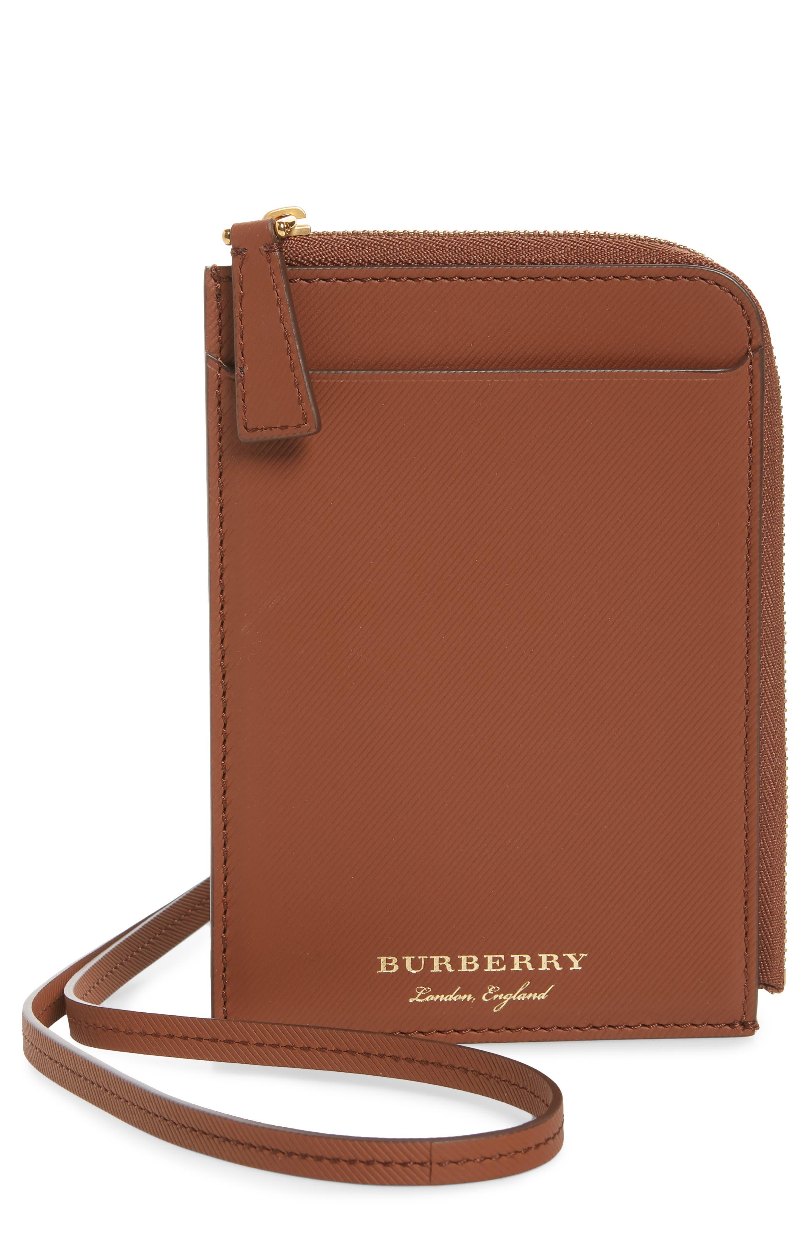 Main Image - Burberry Zain Leather Passport Case