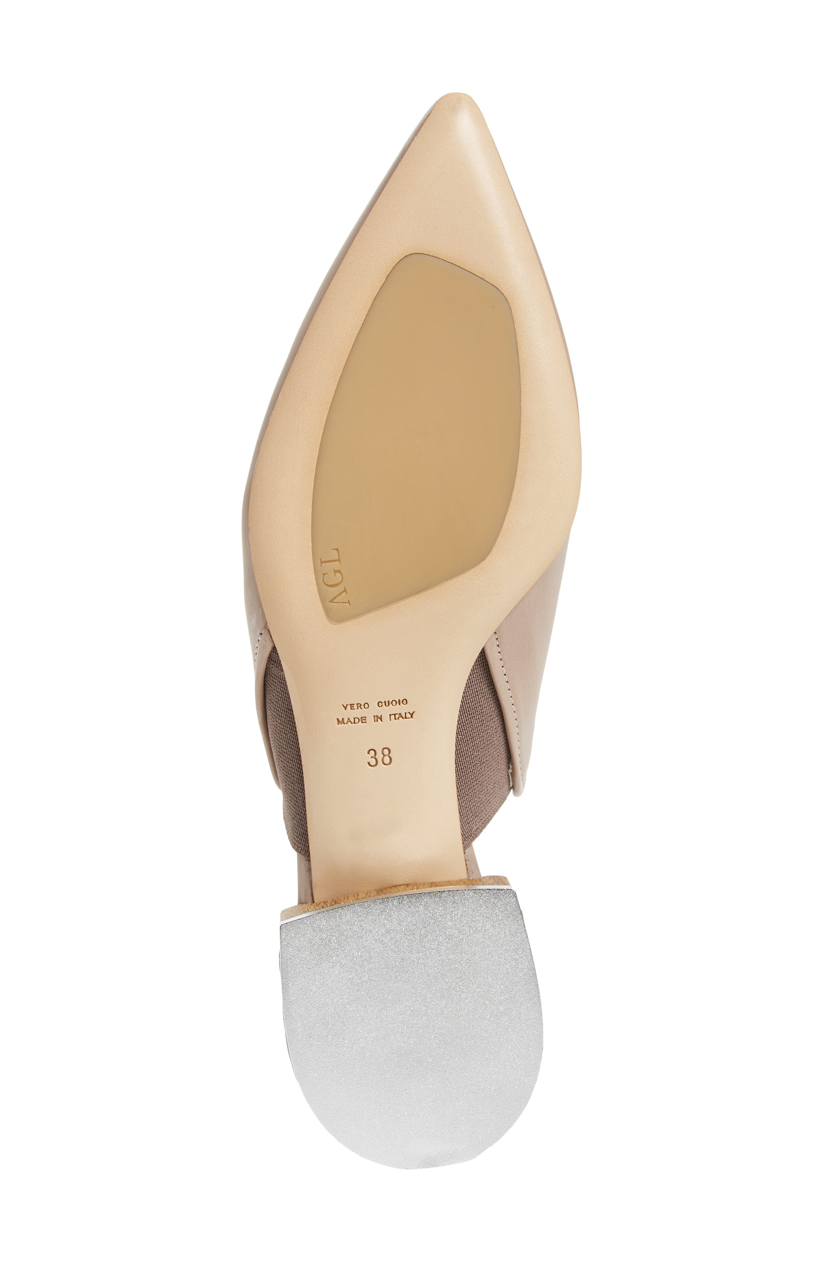 Pointed Toe Mule,                             Alternate thumbnail 6, color,                             Marble Leather
