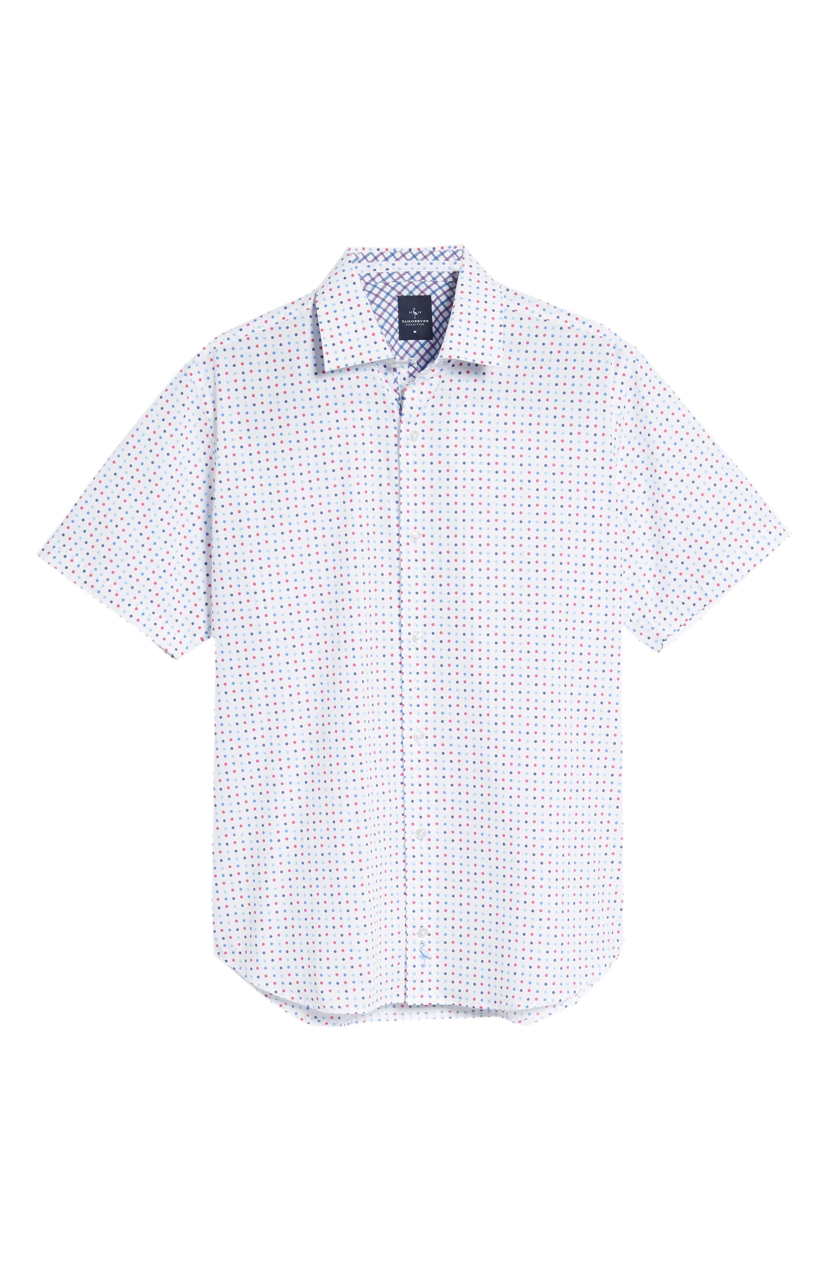 Banning Regular Fit Dot Sport Shirt,                             Alternate thumbnail 6, color,                             White