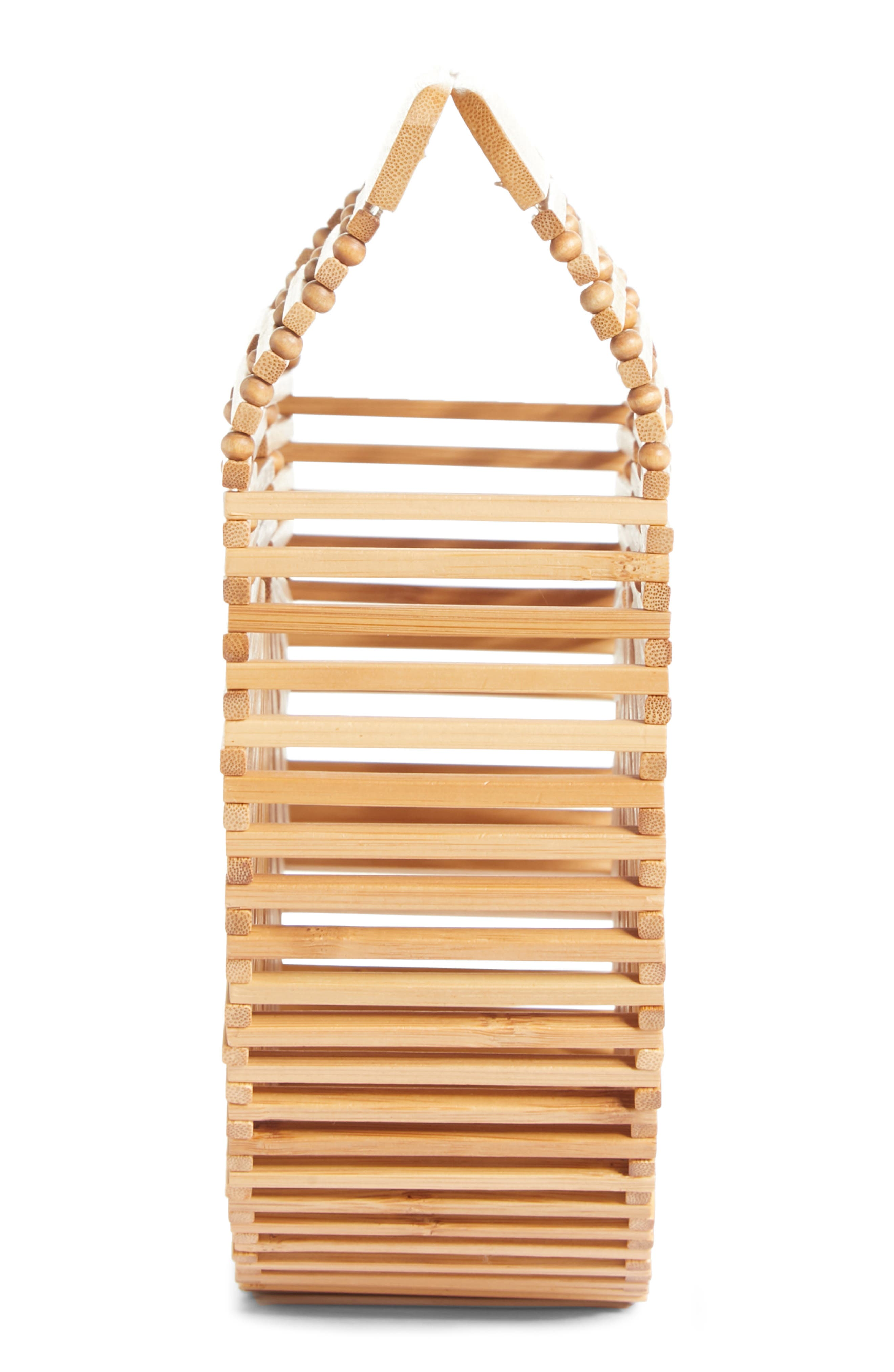 Small Ark Bamboo Handbag,                             Alternate thumbnail 5, color,                             Bamboo