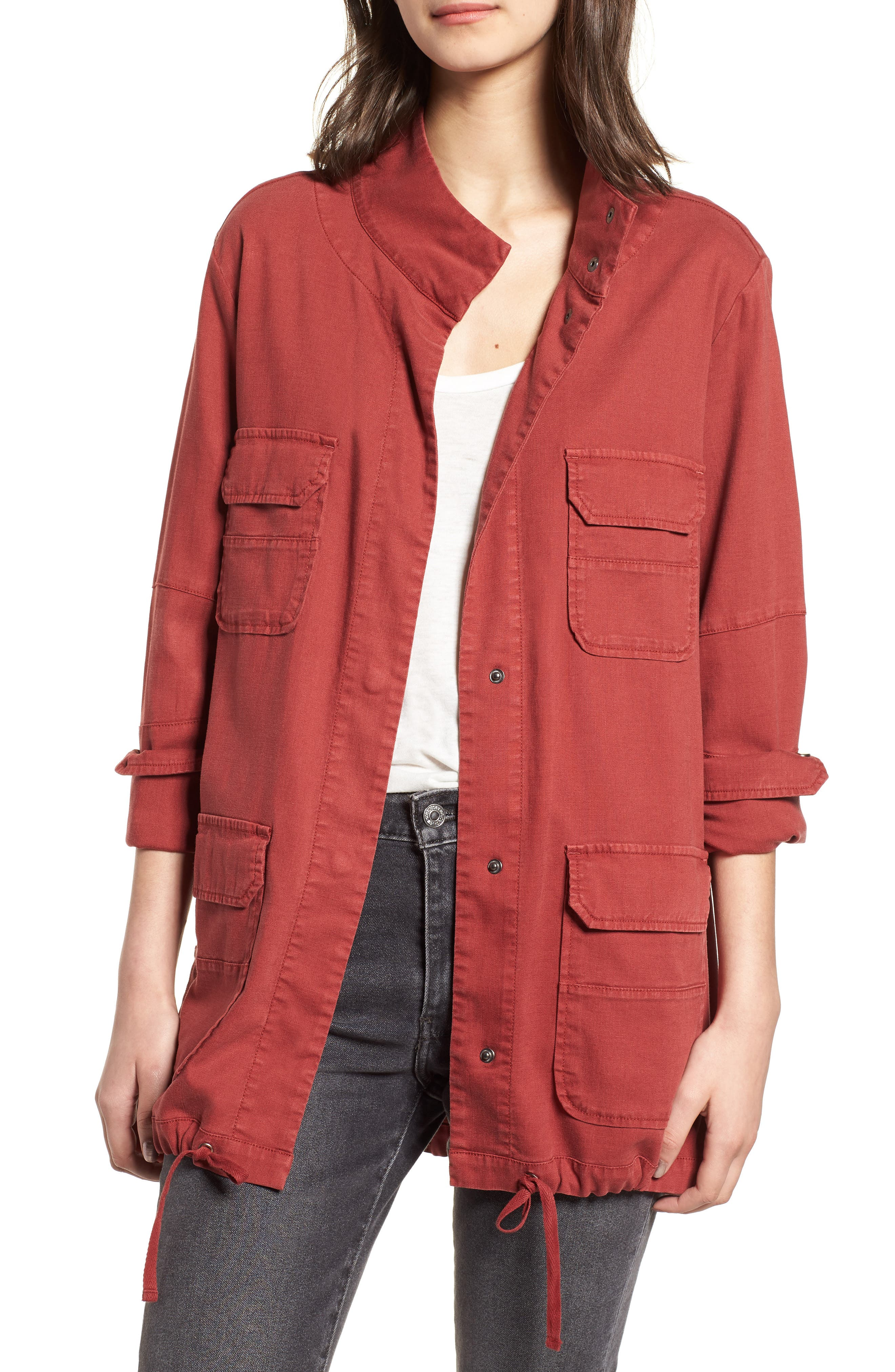 Cargo Jacket,                         Main,                         color, Rhubarb