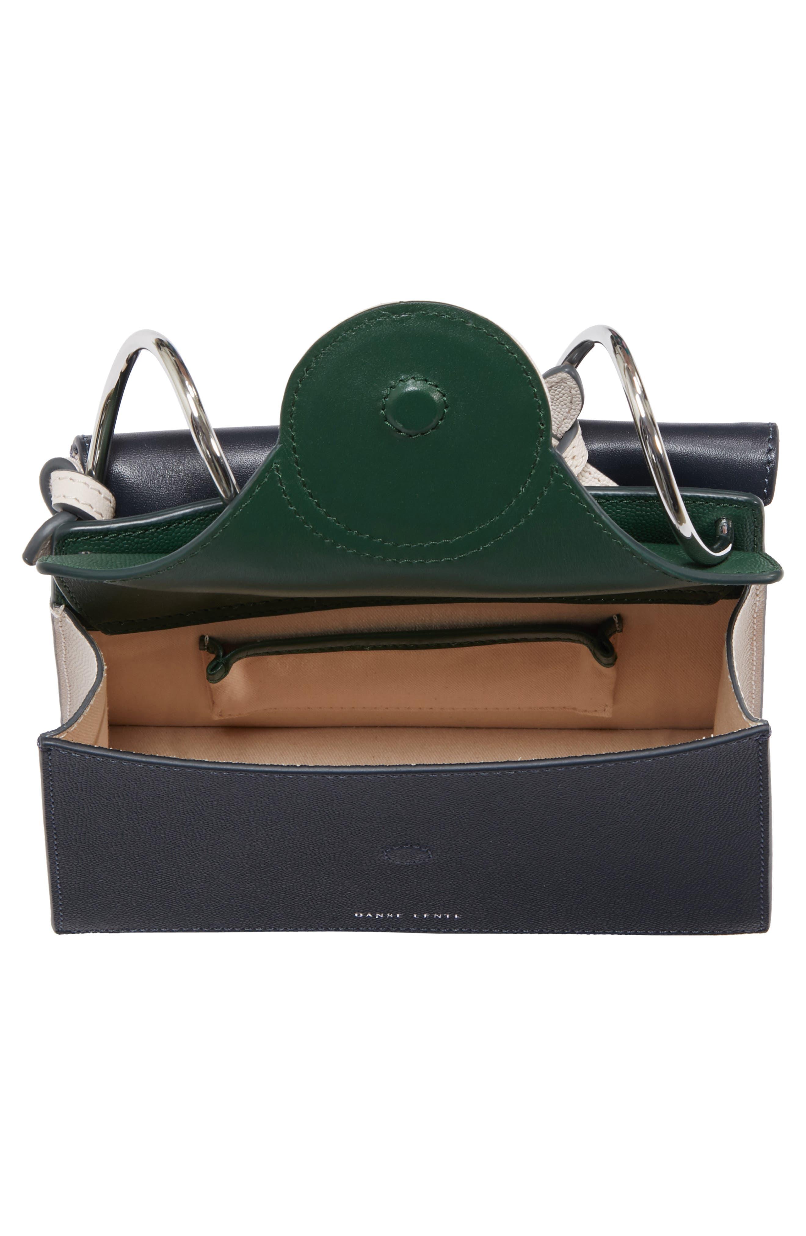 Mini Phoebe Leather Bag,                             Alternate thumbnail 4, color,                             Pine-Marine