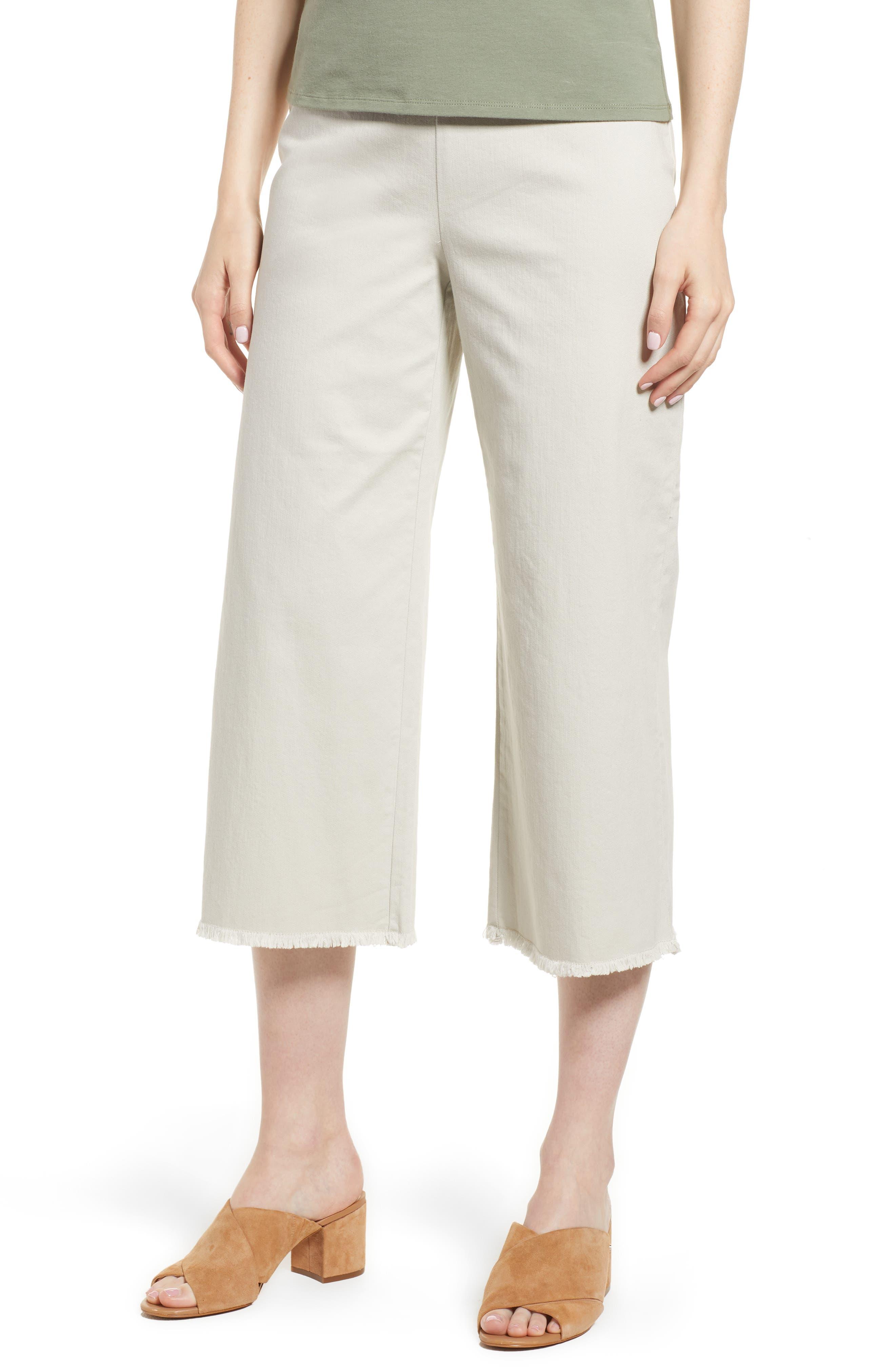 NIC + ZOE Stretch Denim Wide Leg Crop Pants (Regular & Petite)