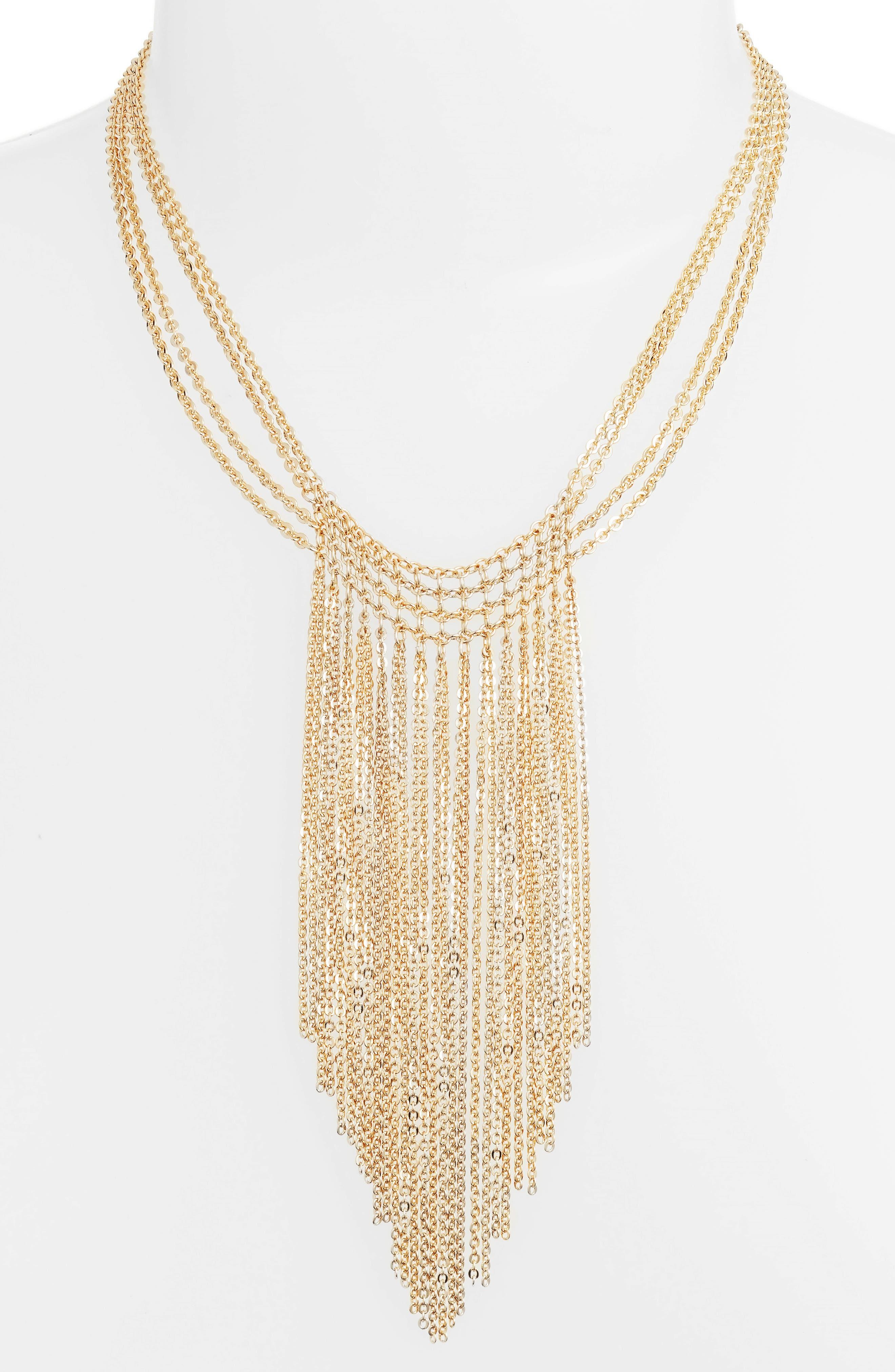 Halogen® Waterfall Mesh Necklace