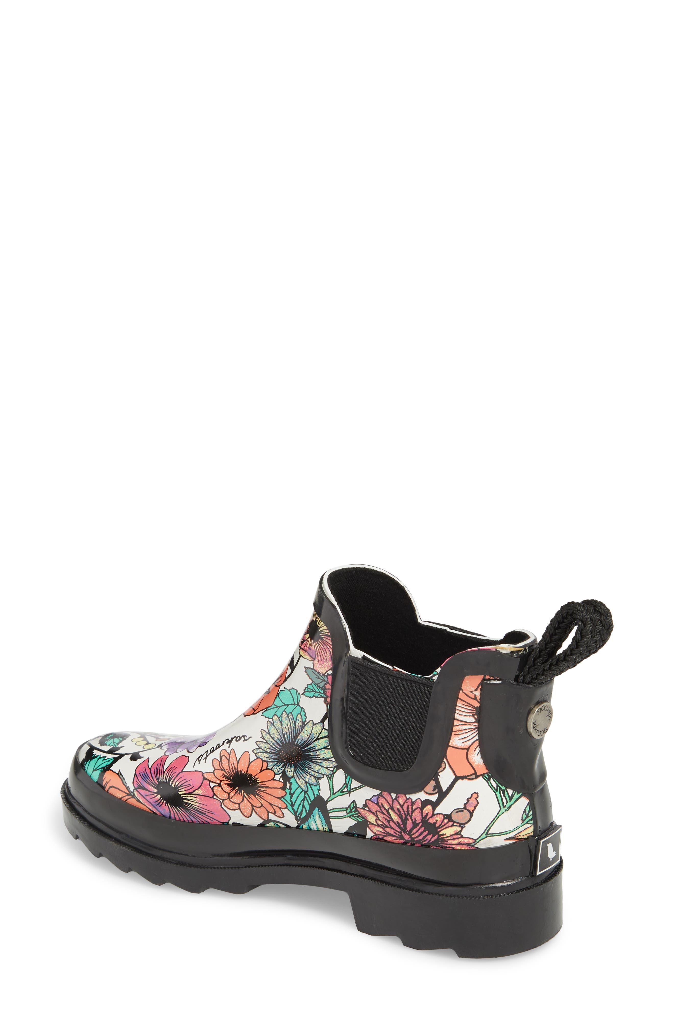 'Rhyme' Waterproof Rain Boot,                             Alternate thumbnail 2, color,                             Optic In Bloom