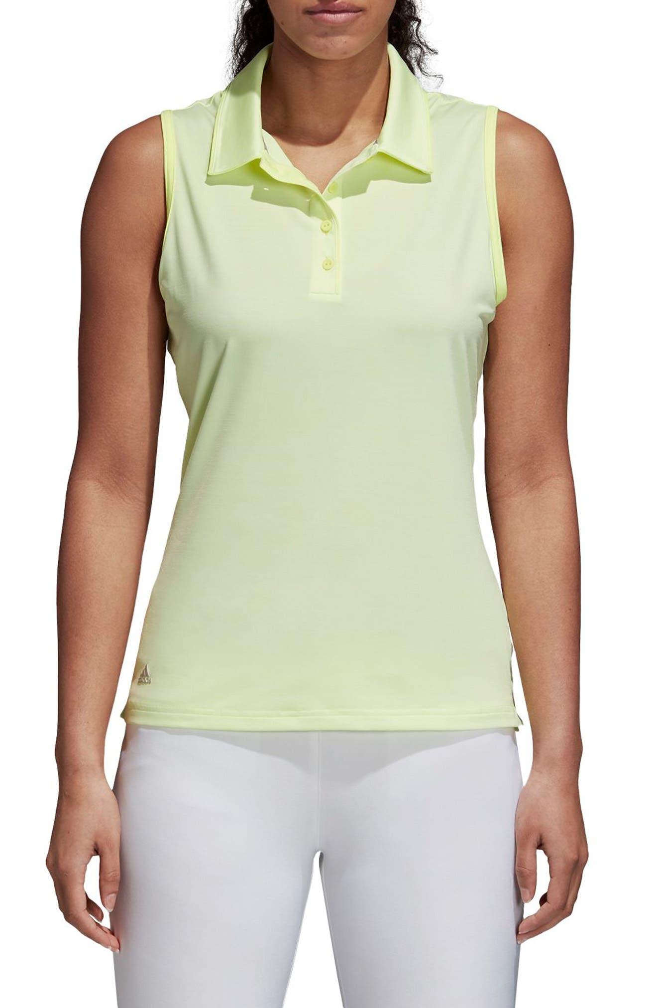 Ultimate365 Sleeveless Golf Polo,                             Main thumbnail 1, color,                             Frozen Yellow