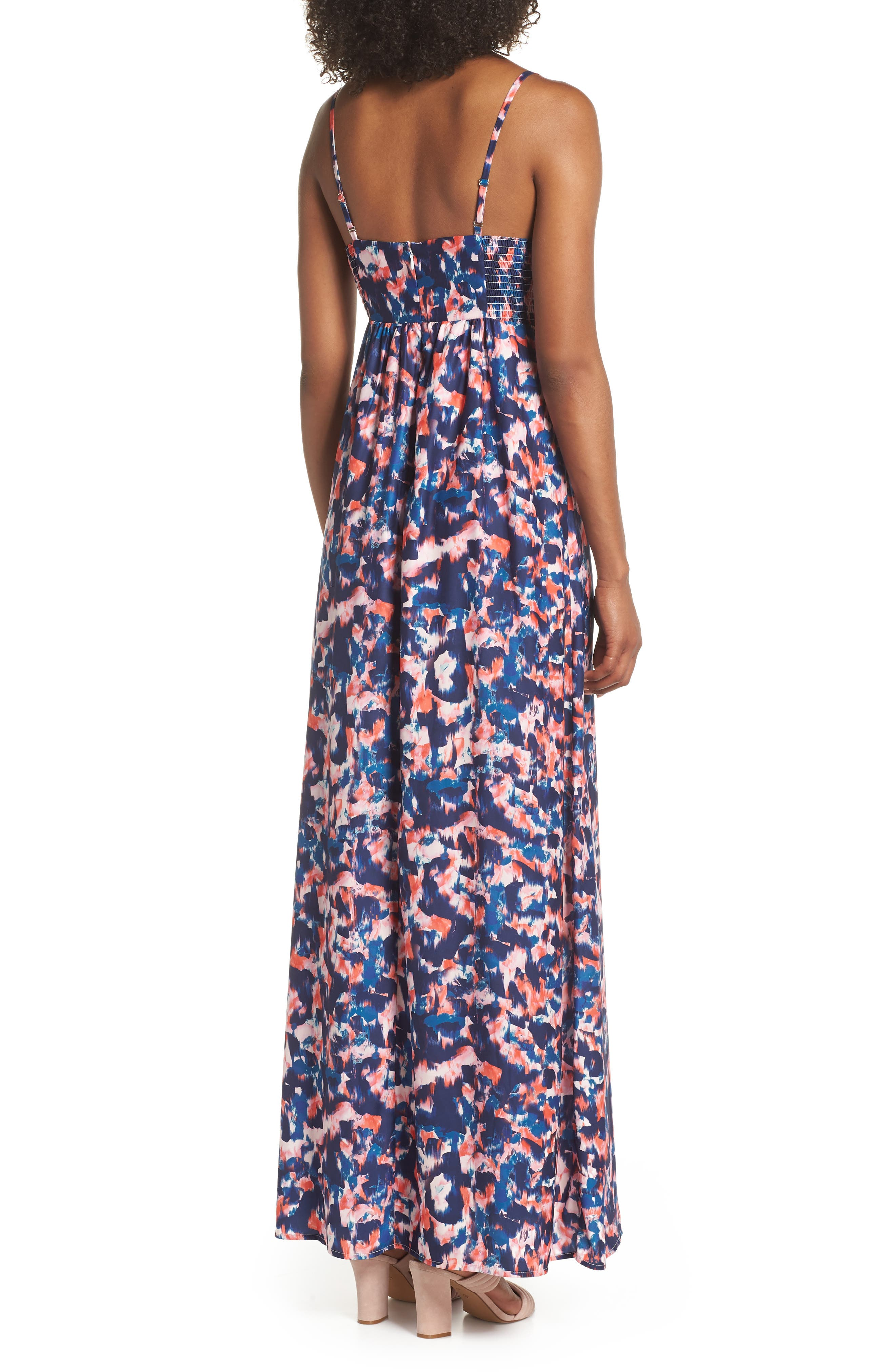 Colby Woven Maxi Dress,                             Alternate thumbnail 2, color,                             Yucatan Nights