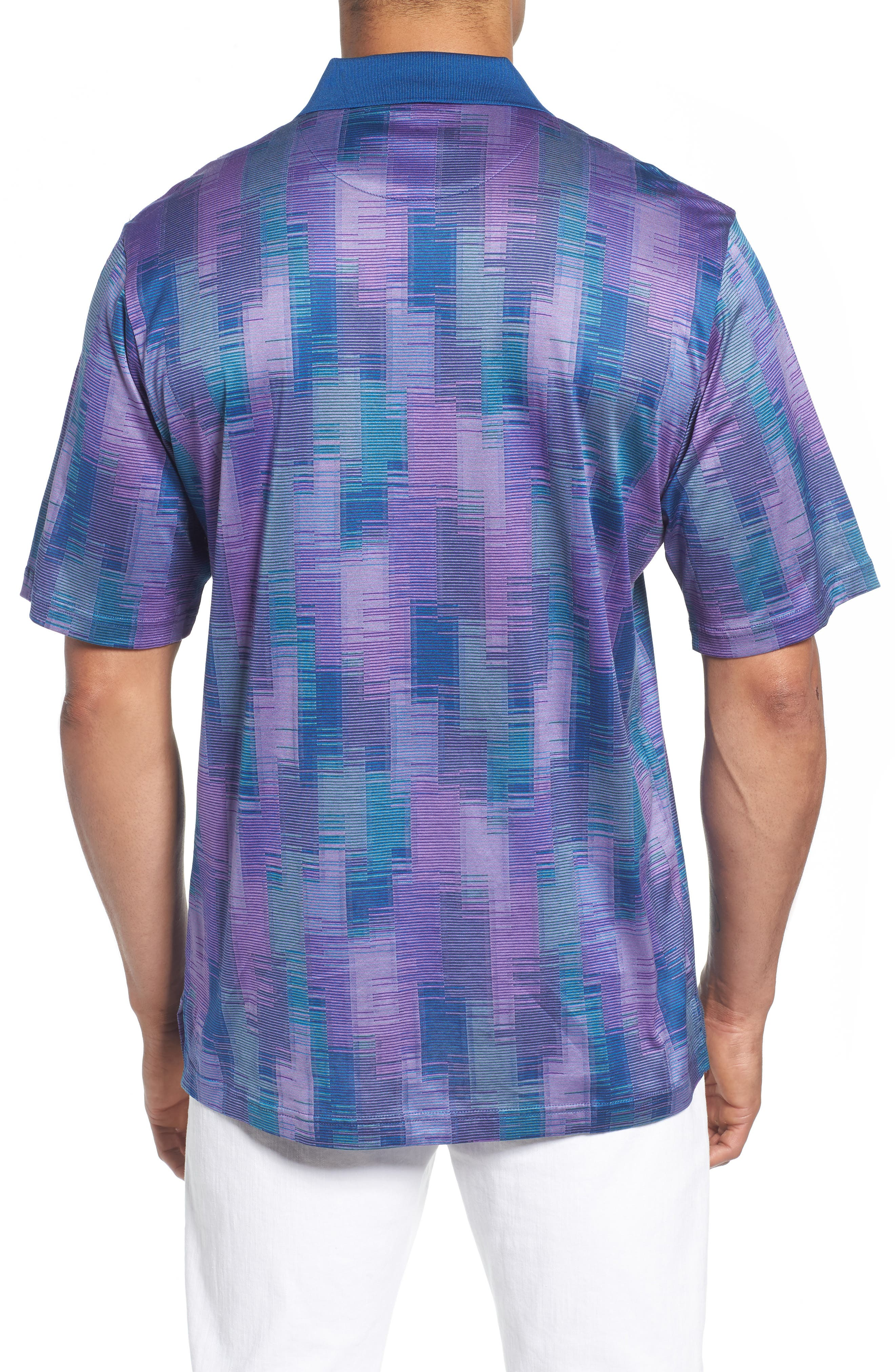 Abstract Stripe Mercerized Cotton Polo,                             Alternate thumbnail 2, color,                             Orchid