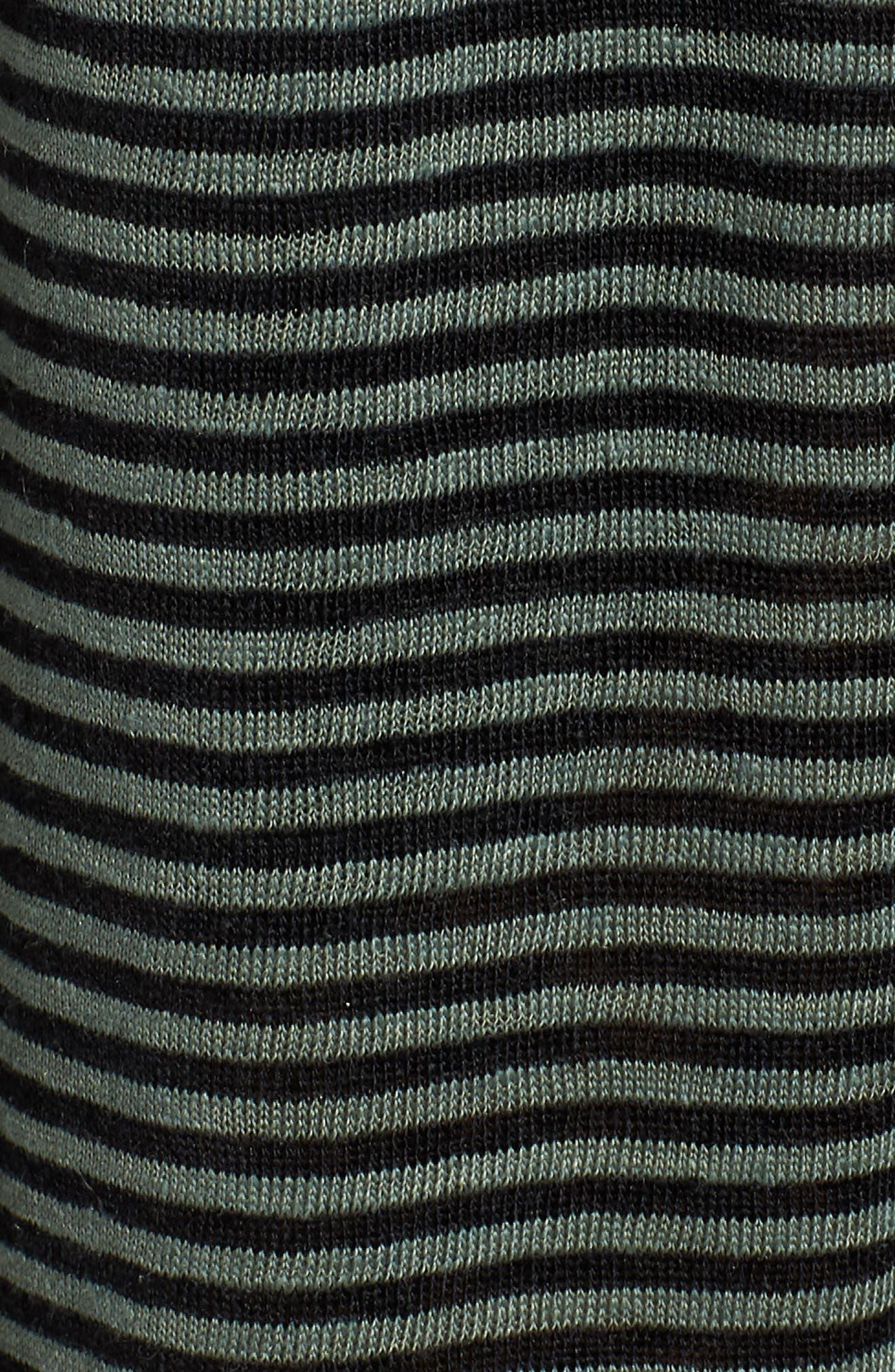 Flared Stripe Organic Linen Skirt,                             Alternate thumbnail 5, color,                             Nori