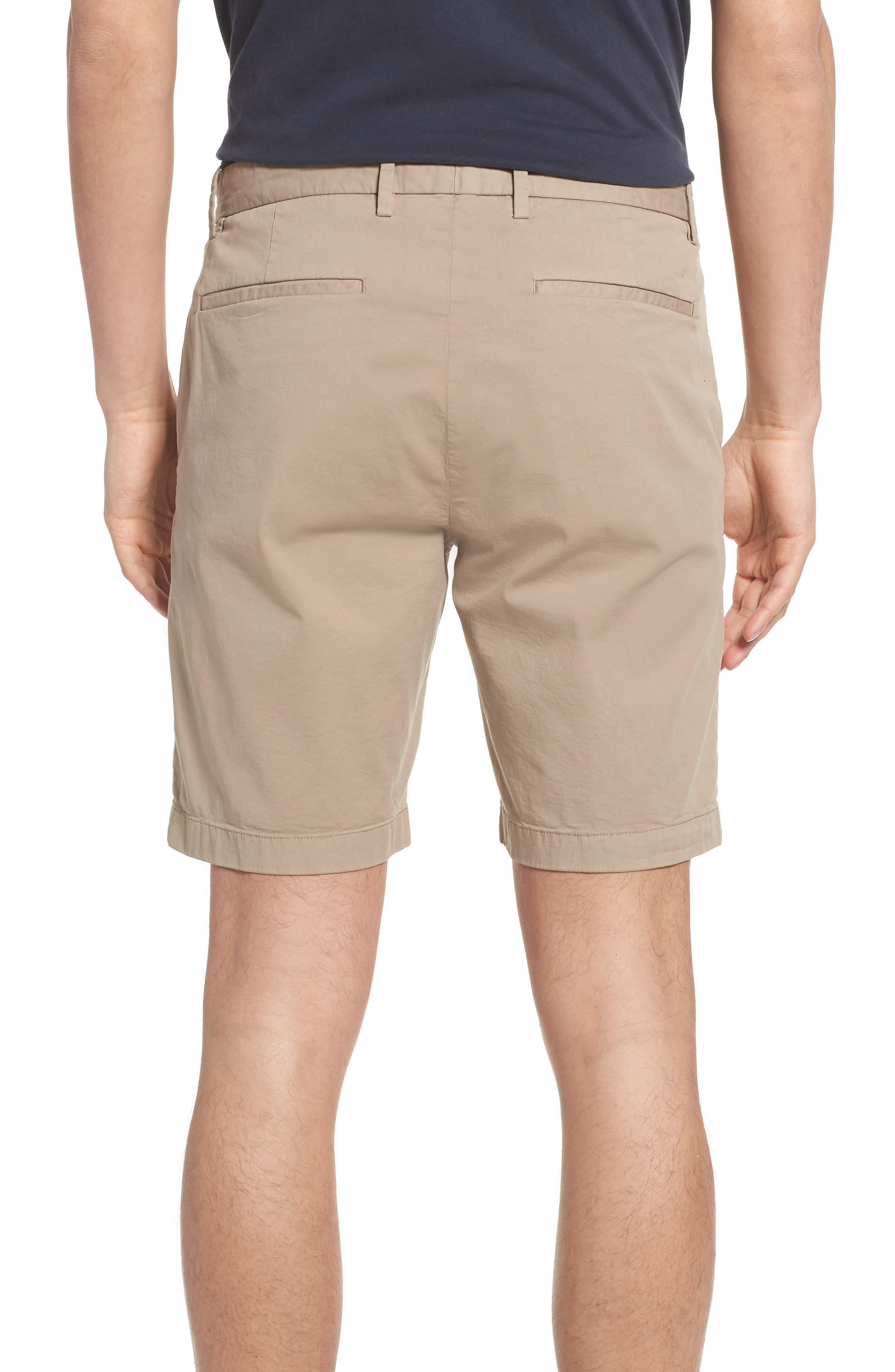 Zaine Stretch Cotton Shorts,                             Alternate thumbnail 2, color,                             Bark