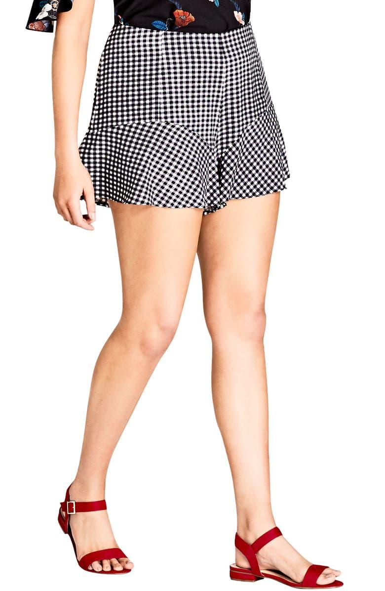 Cute Gingham Flutter Shorts