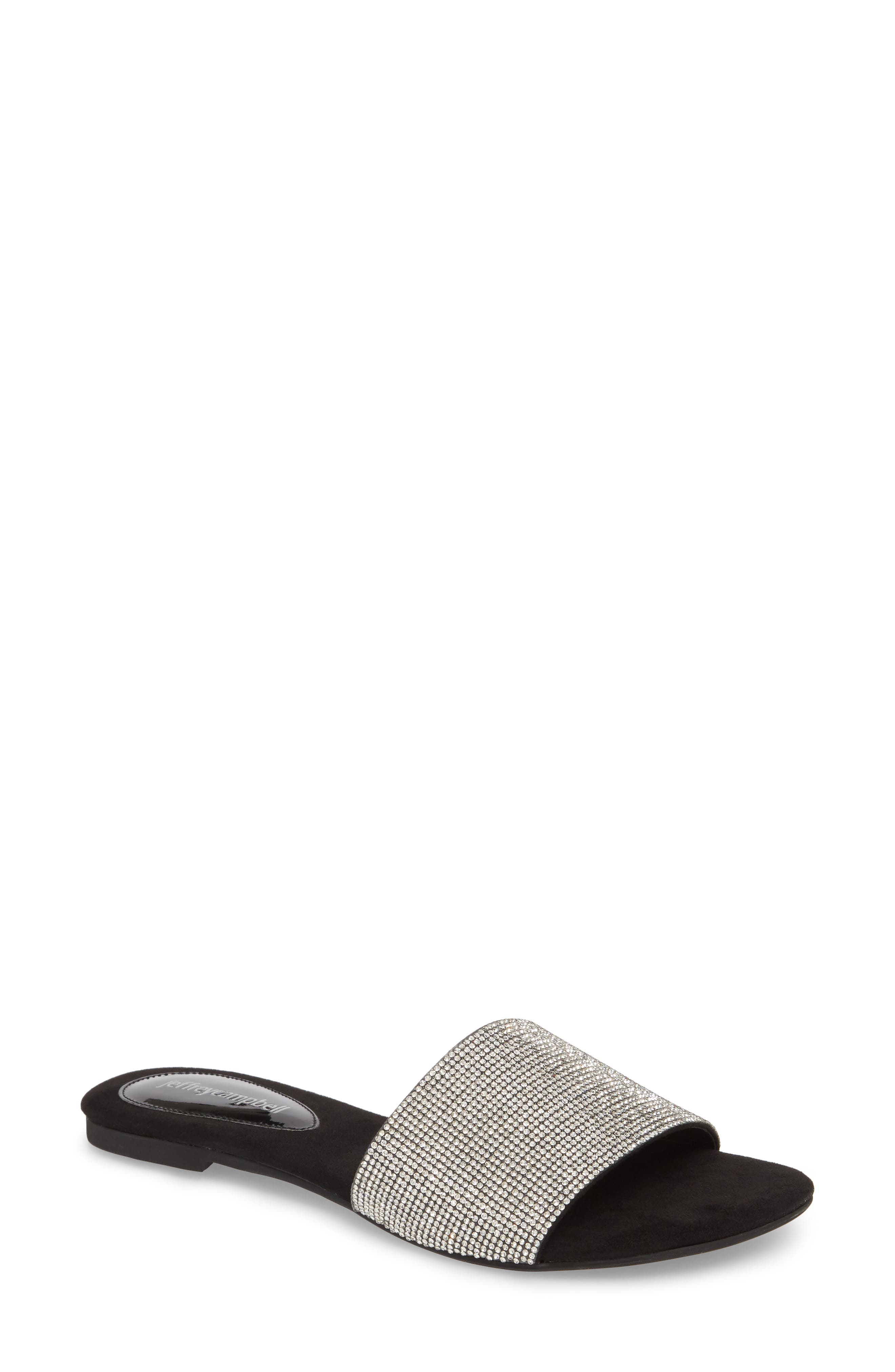 Jeffrey Campbell Sparque Embellished Slide Sandal (Women)