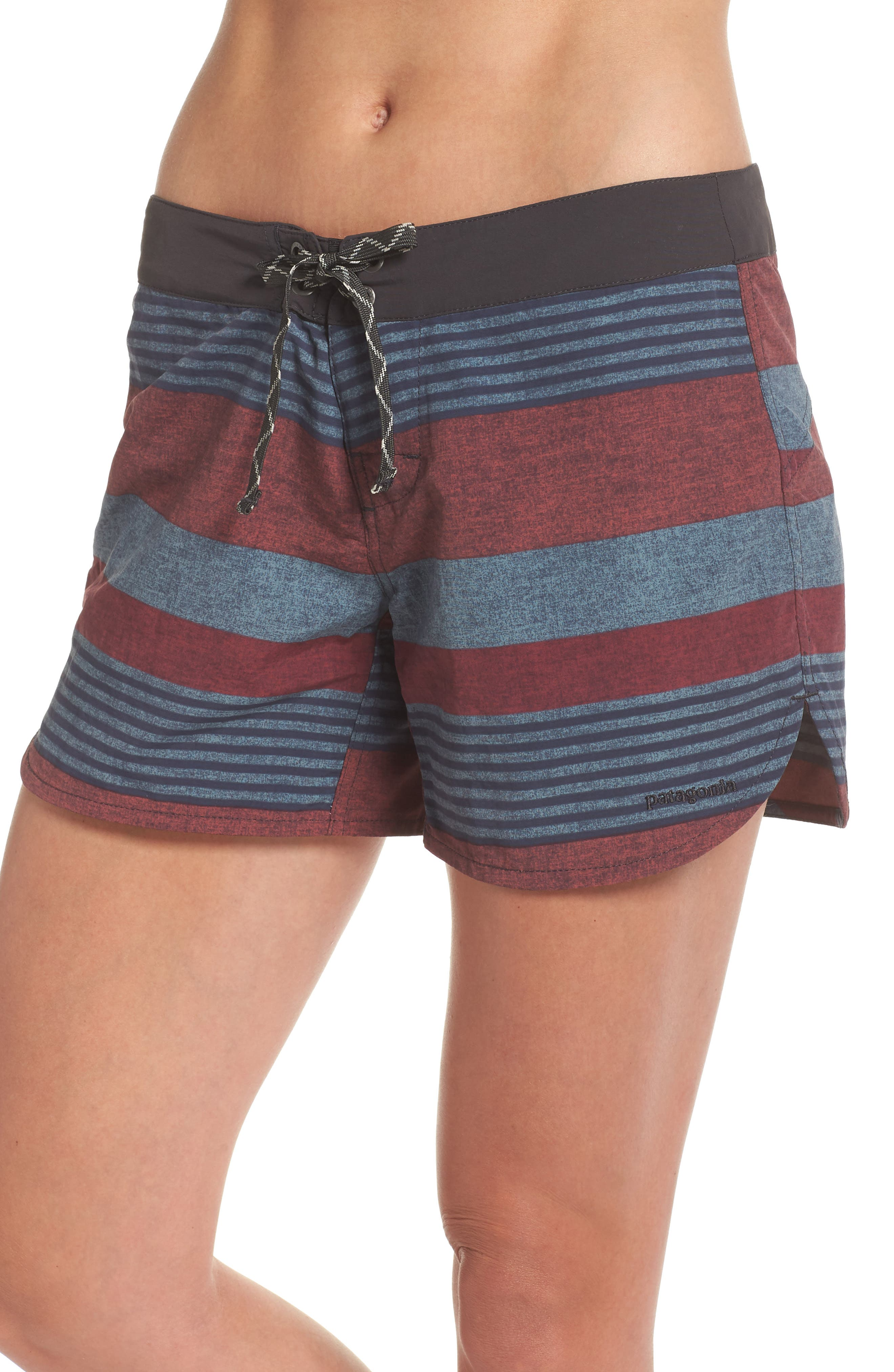 Wavefarer Board Shorts,                             Main thumbnail 1, color,                             Fitz Stripe: Kiln Pink
