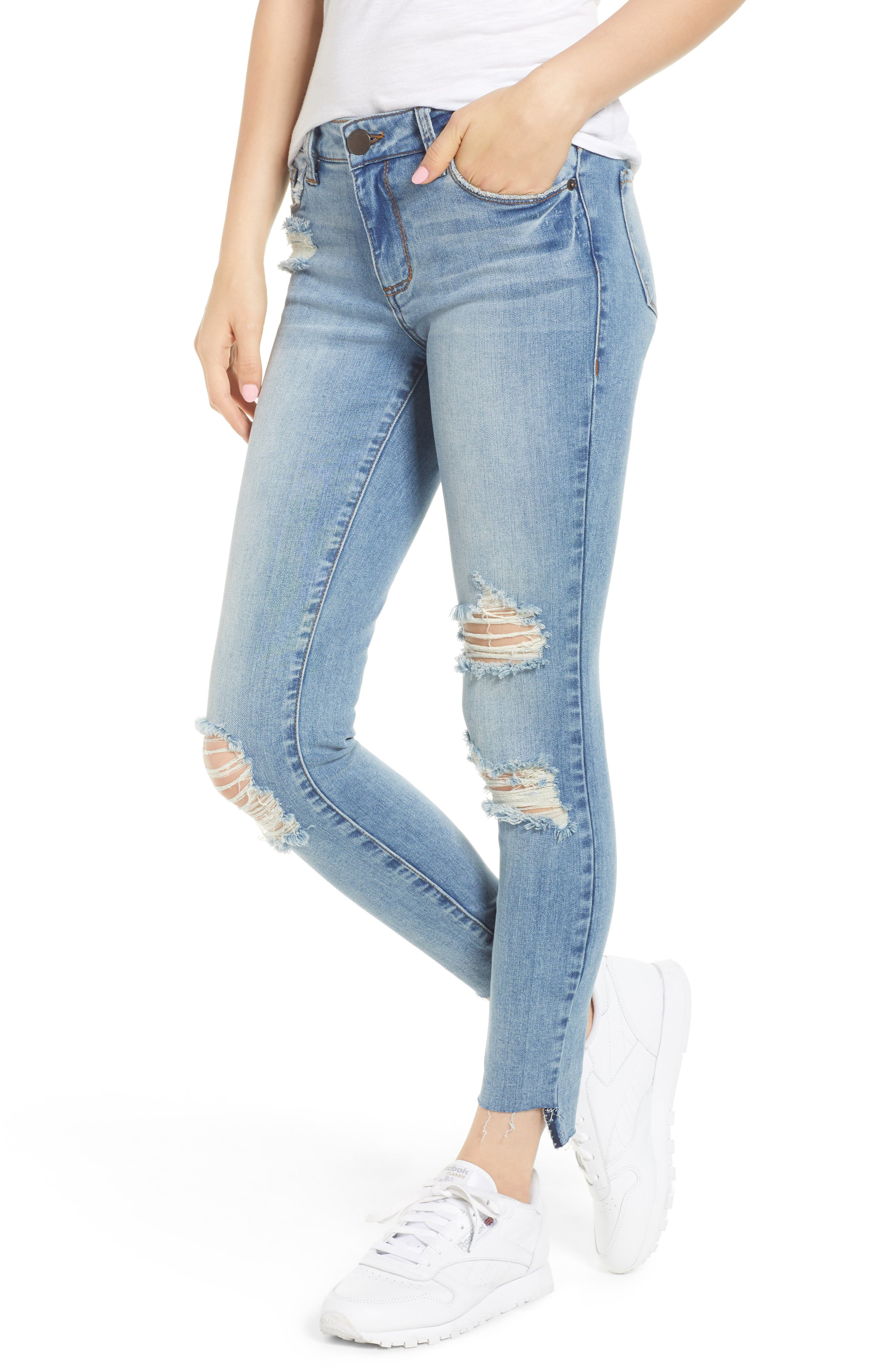 STS Blue Emma Ripped Ankle Skinny Jeans,                         Main,                         color, Nortan W/ Lt Base
