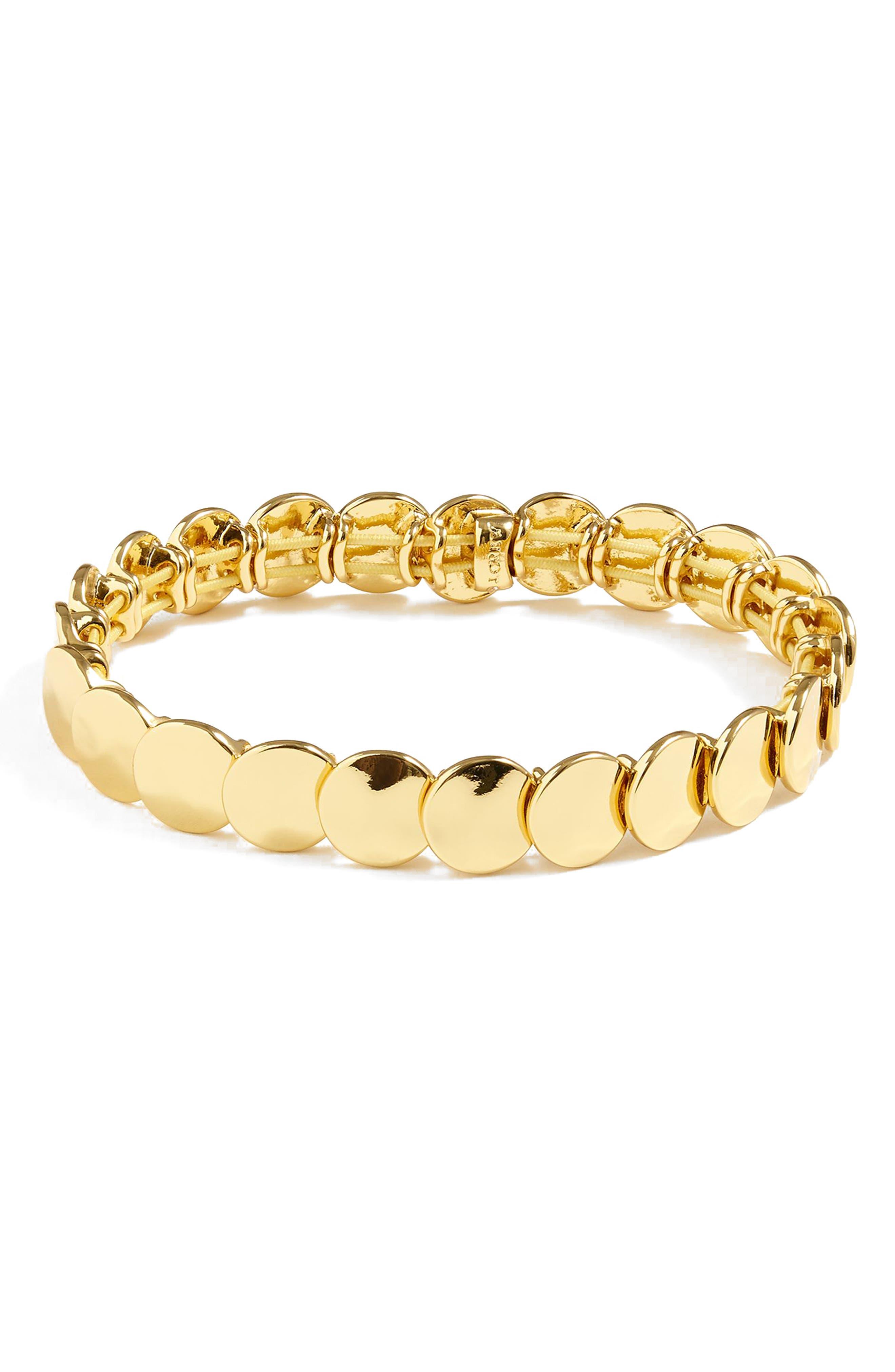Polka Bracelet,                         Main,                         color, Burnished Gold