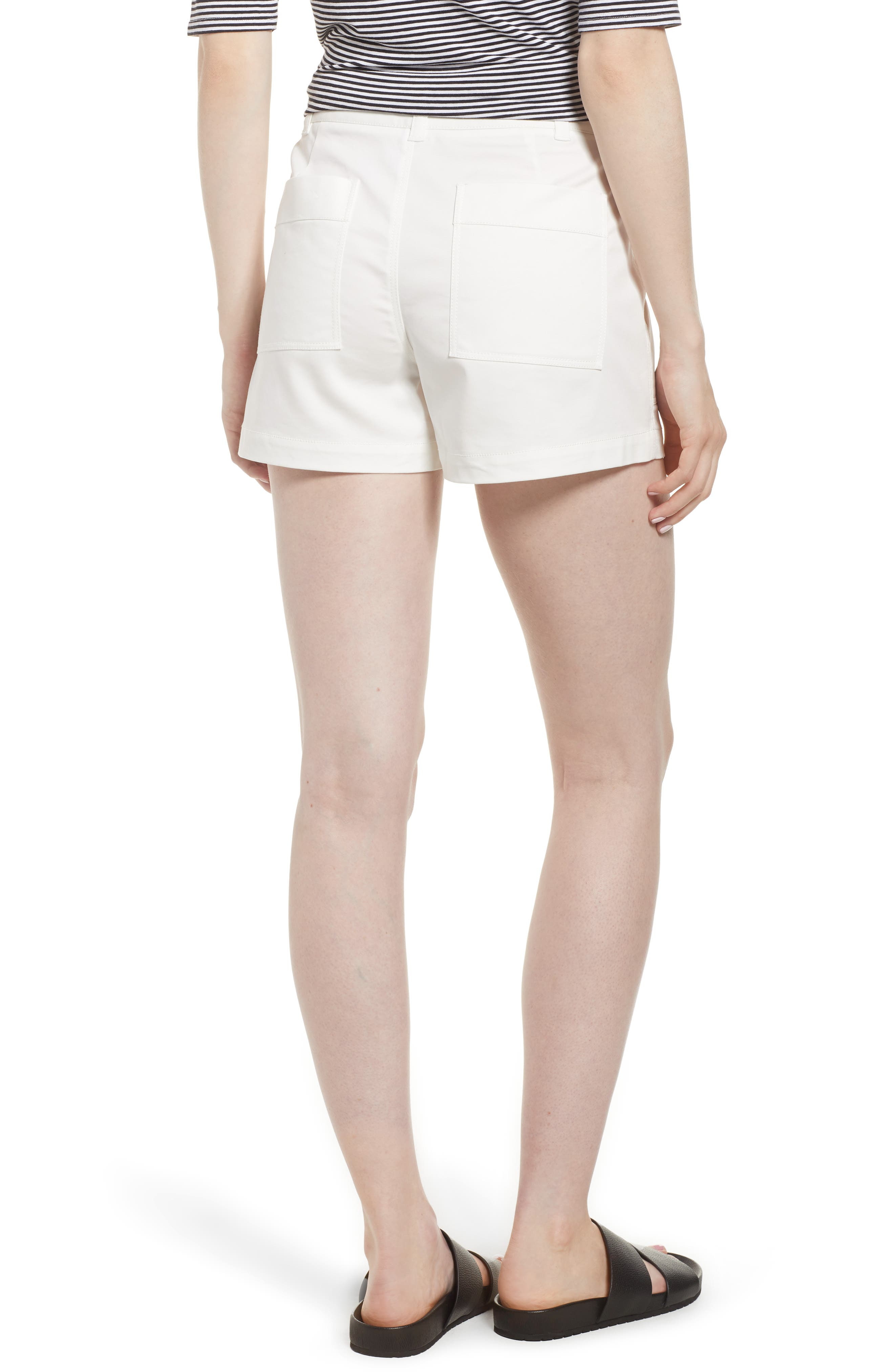 Patch Pocket Shorts,                             Alternate thumbnail 2, color,                             White