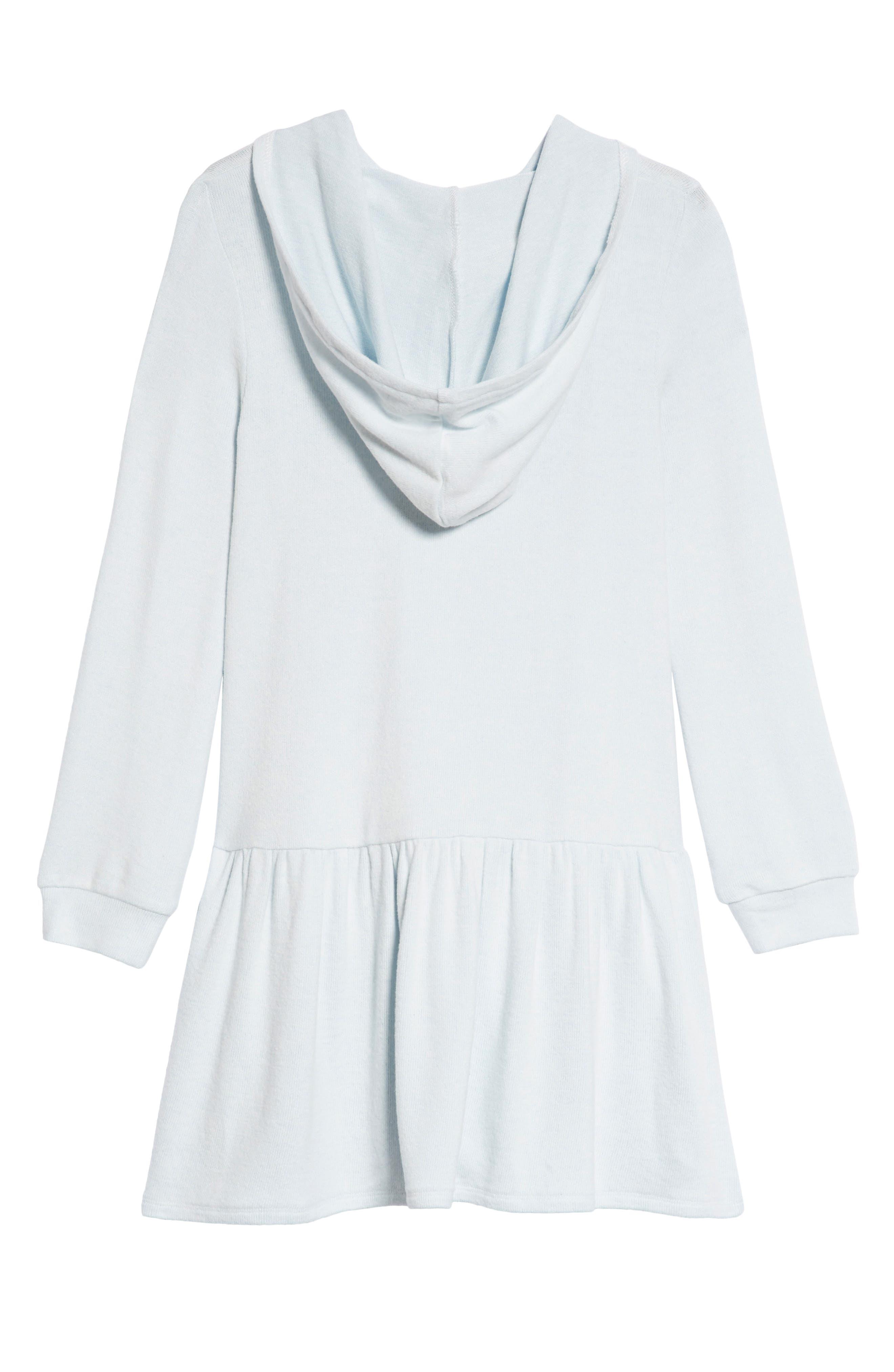 Cozy Hooded Dress,                             Alternate thumbnail 2, color,                             Blue Drift Star