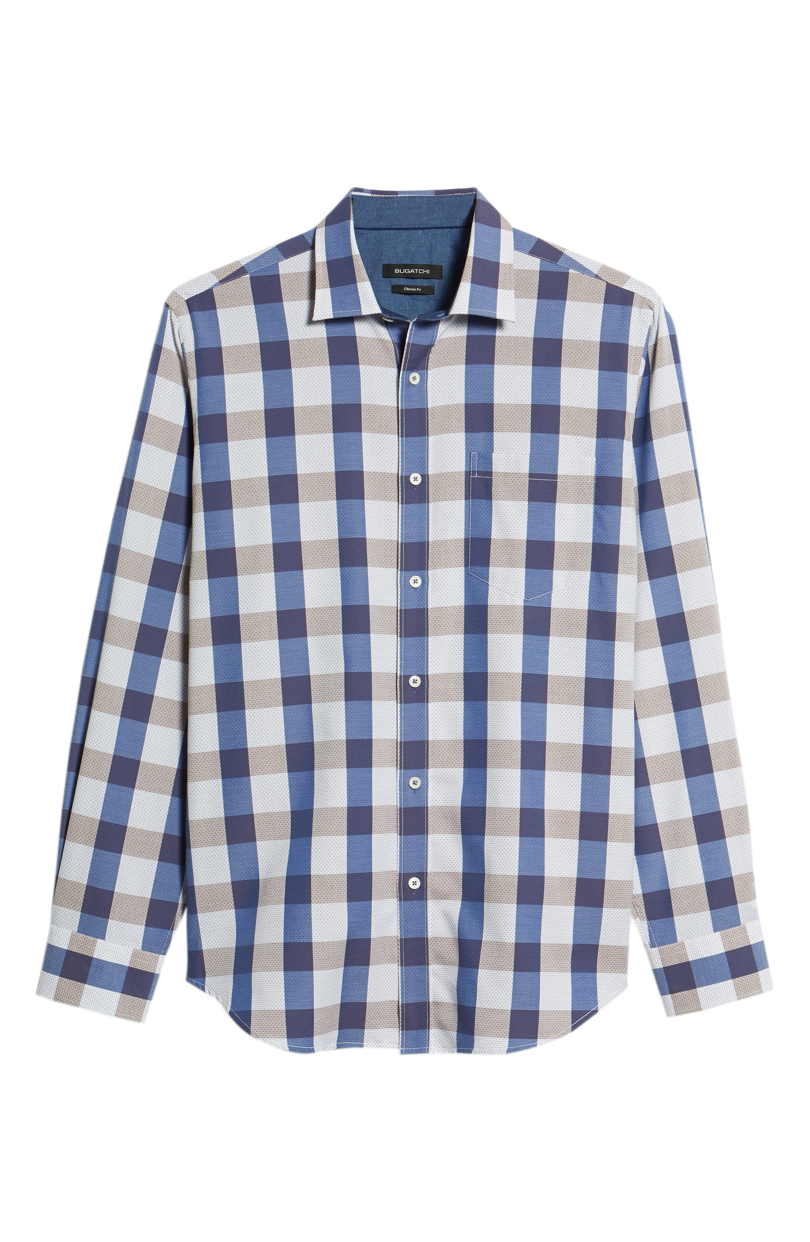 Classic Fit Check on Dot Sport Shirt,                             Alternate thumbnail 6, color,                             Clay