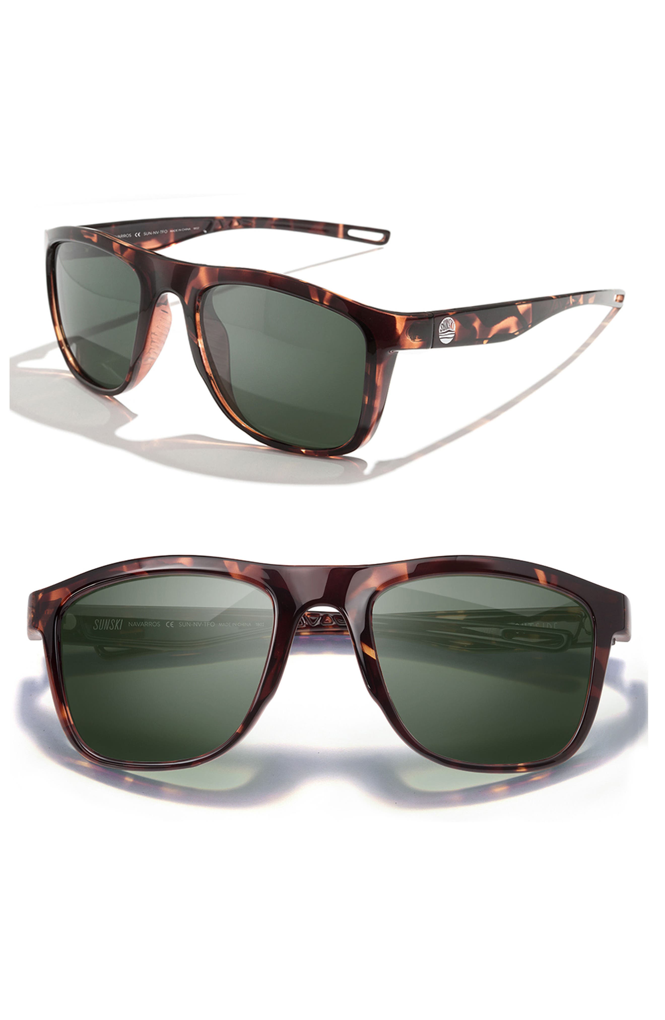 Navarros 53mm Polarized Sunglasses,                         Main,                         color, Tortoise Forest