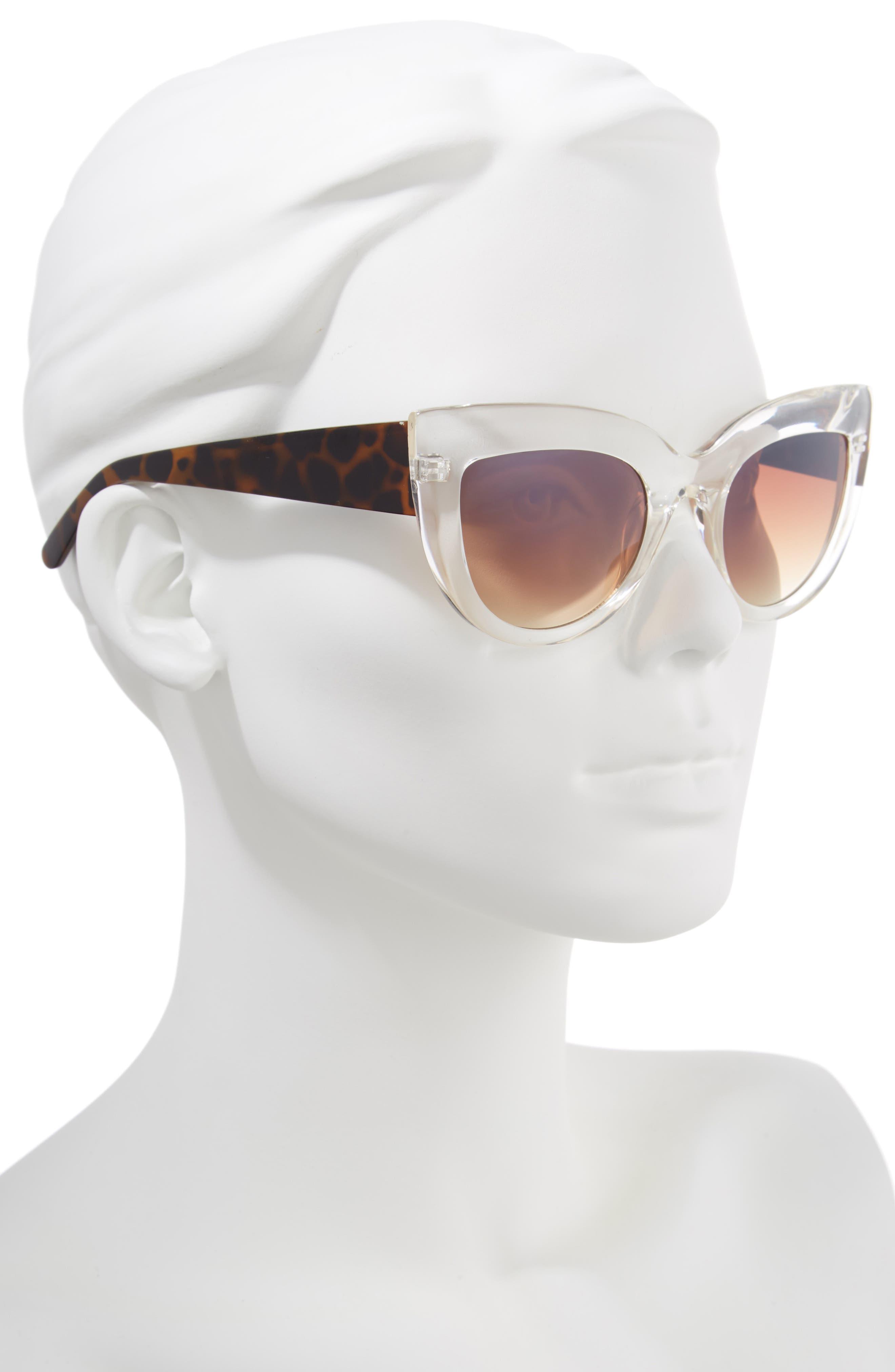 Translucent Cat Eye Sunglasses,                             Alternate thumbnail 2, color,                             Tort/ Clear