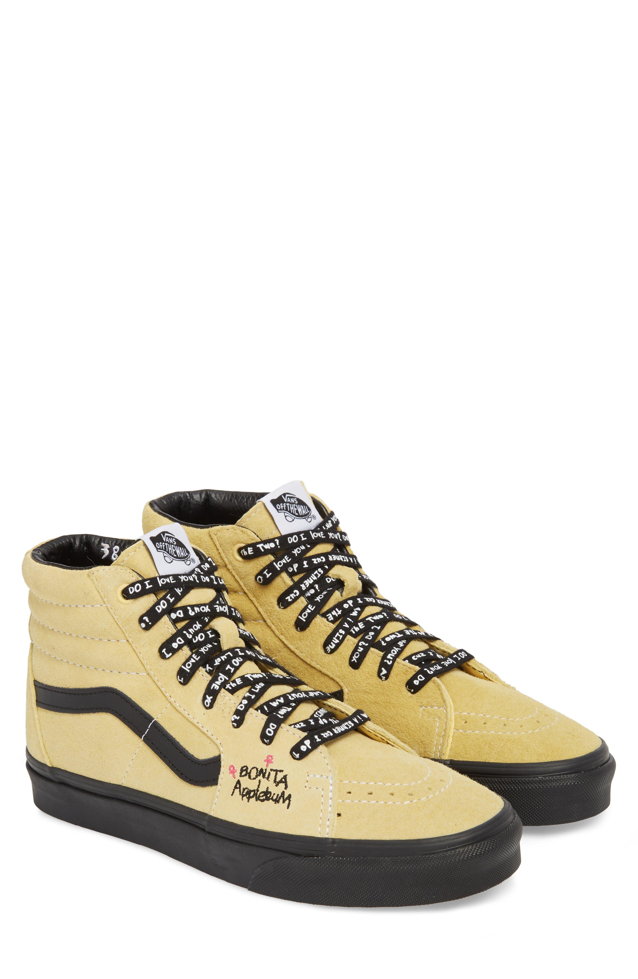 ATCQ Sk8-Hi Sneaker,                             Main thumbnail 1, color,                             Mellow Yellow/ Spectra Yellow