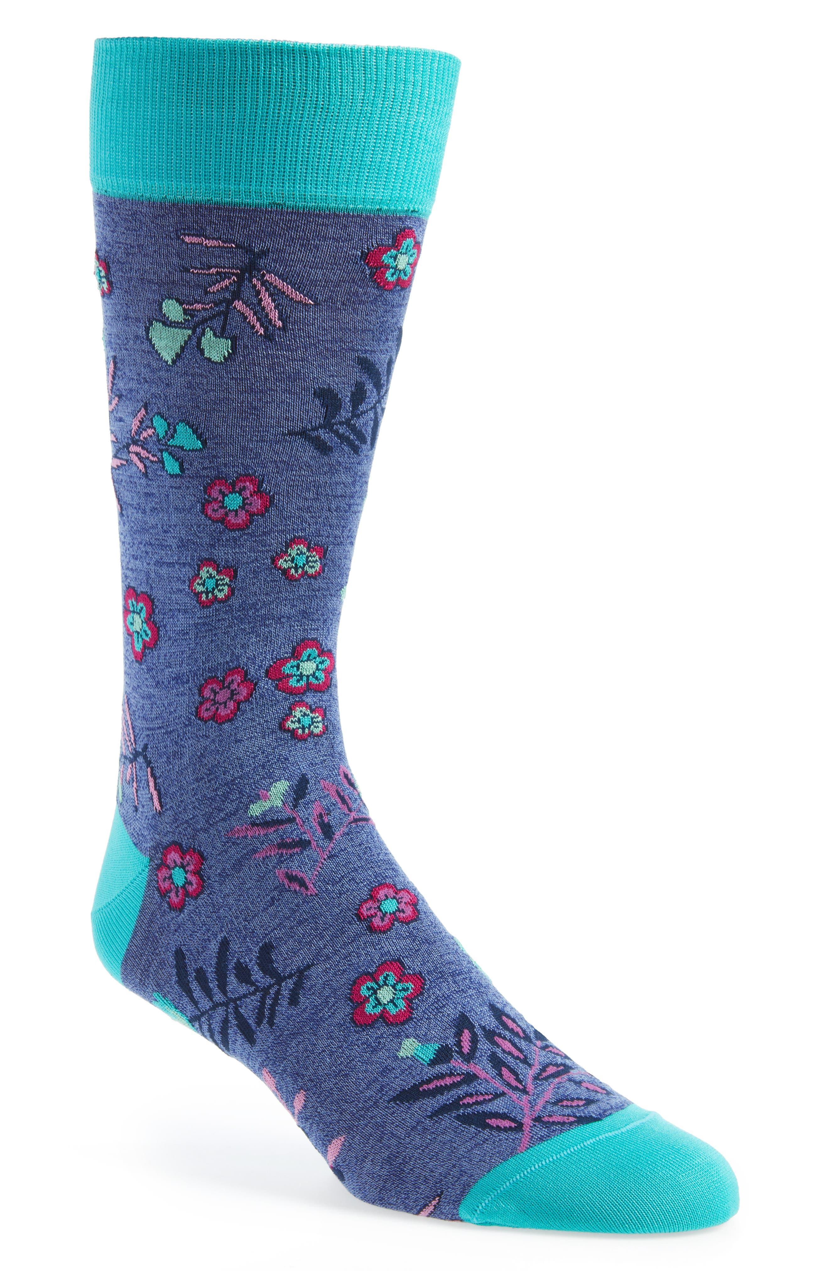 Cotton Blend Socks,                         Main,                         color, Orchid