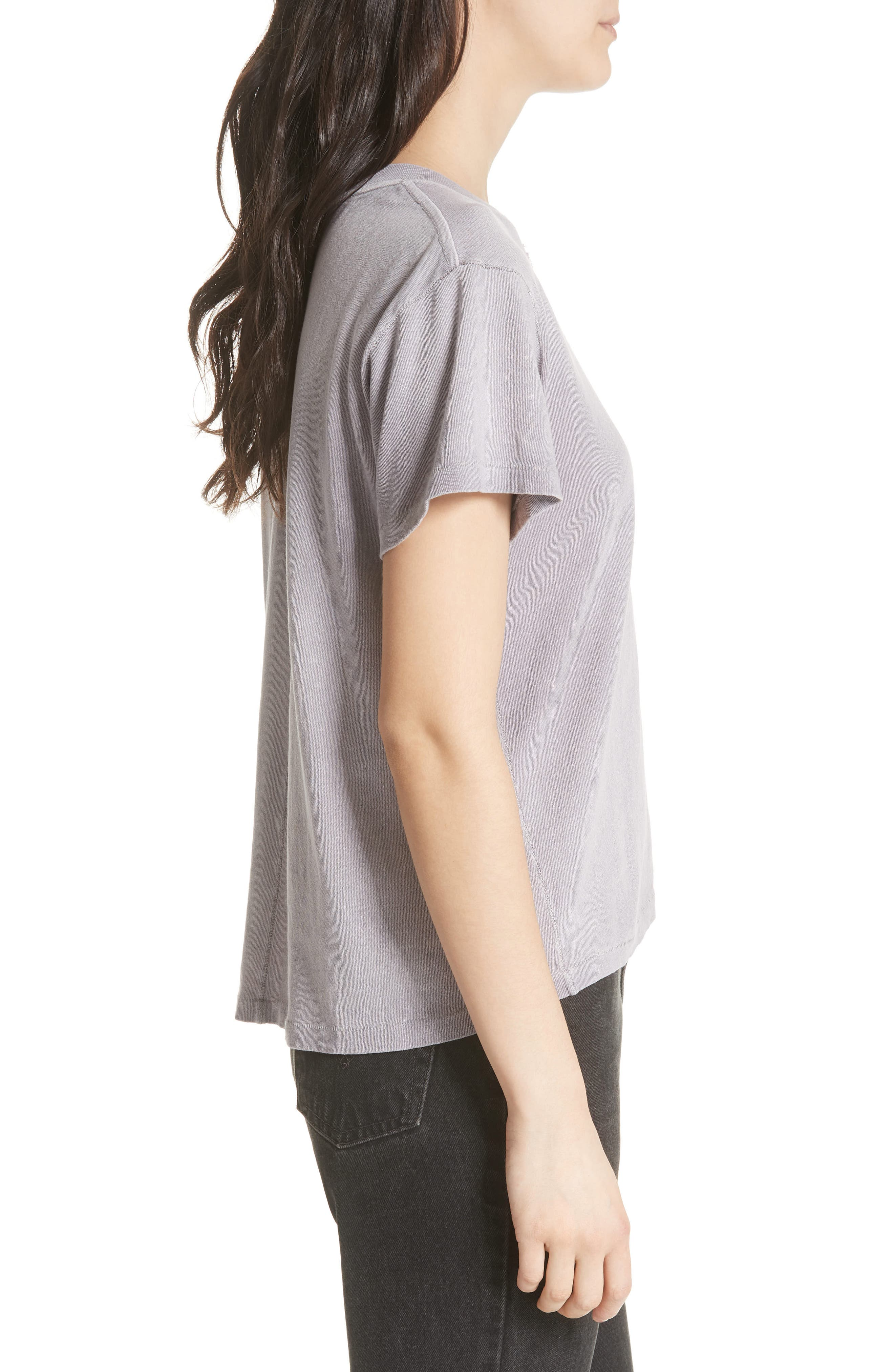 We the People by Free People Vintage Pocket Tee,                             Alternate thumbnail 3, color,                             Lilac