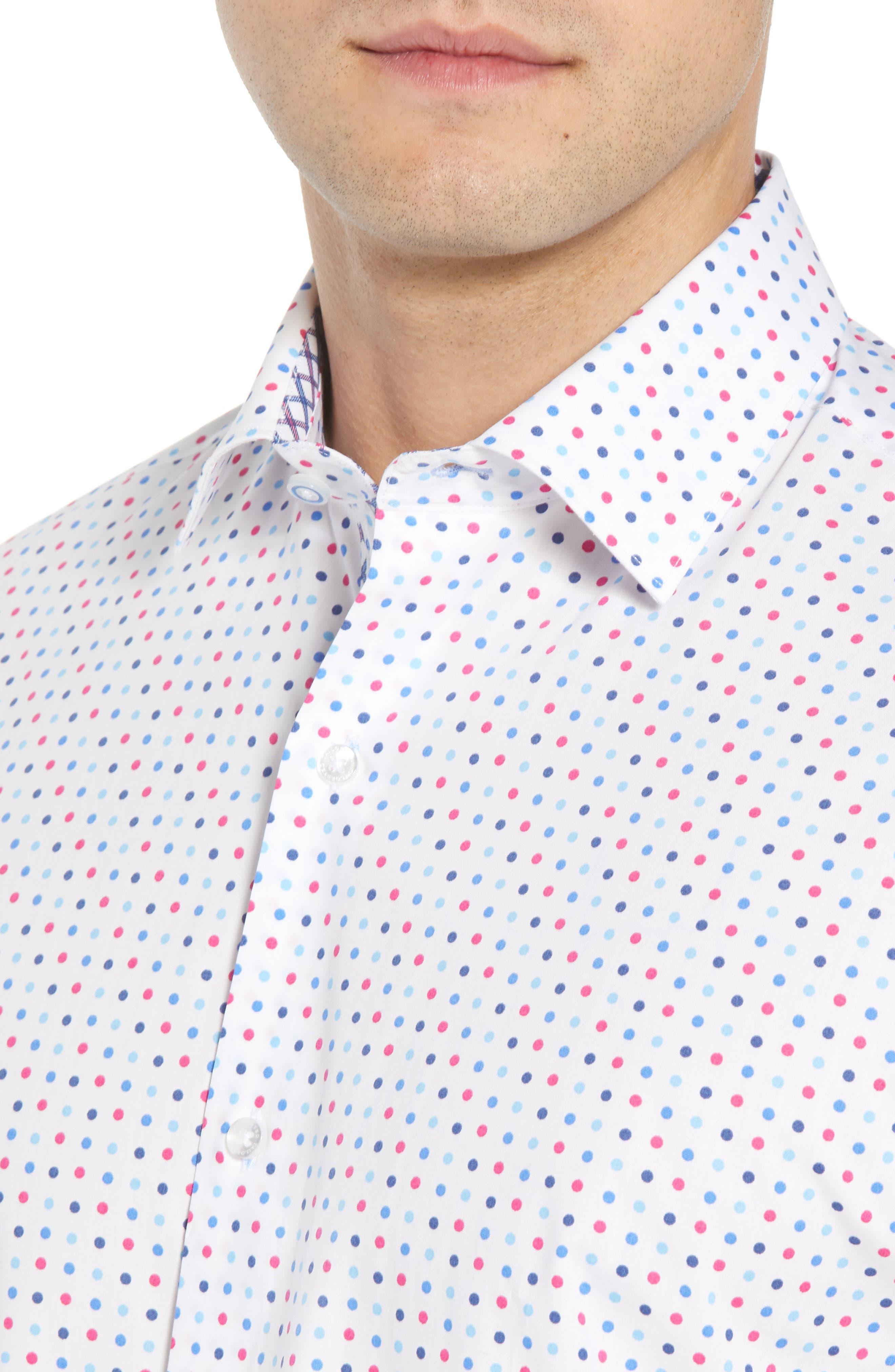 Banning Regular Fit Dot Sport Shirt,                             Alternate thumbnail 2, color,                             White