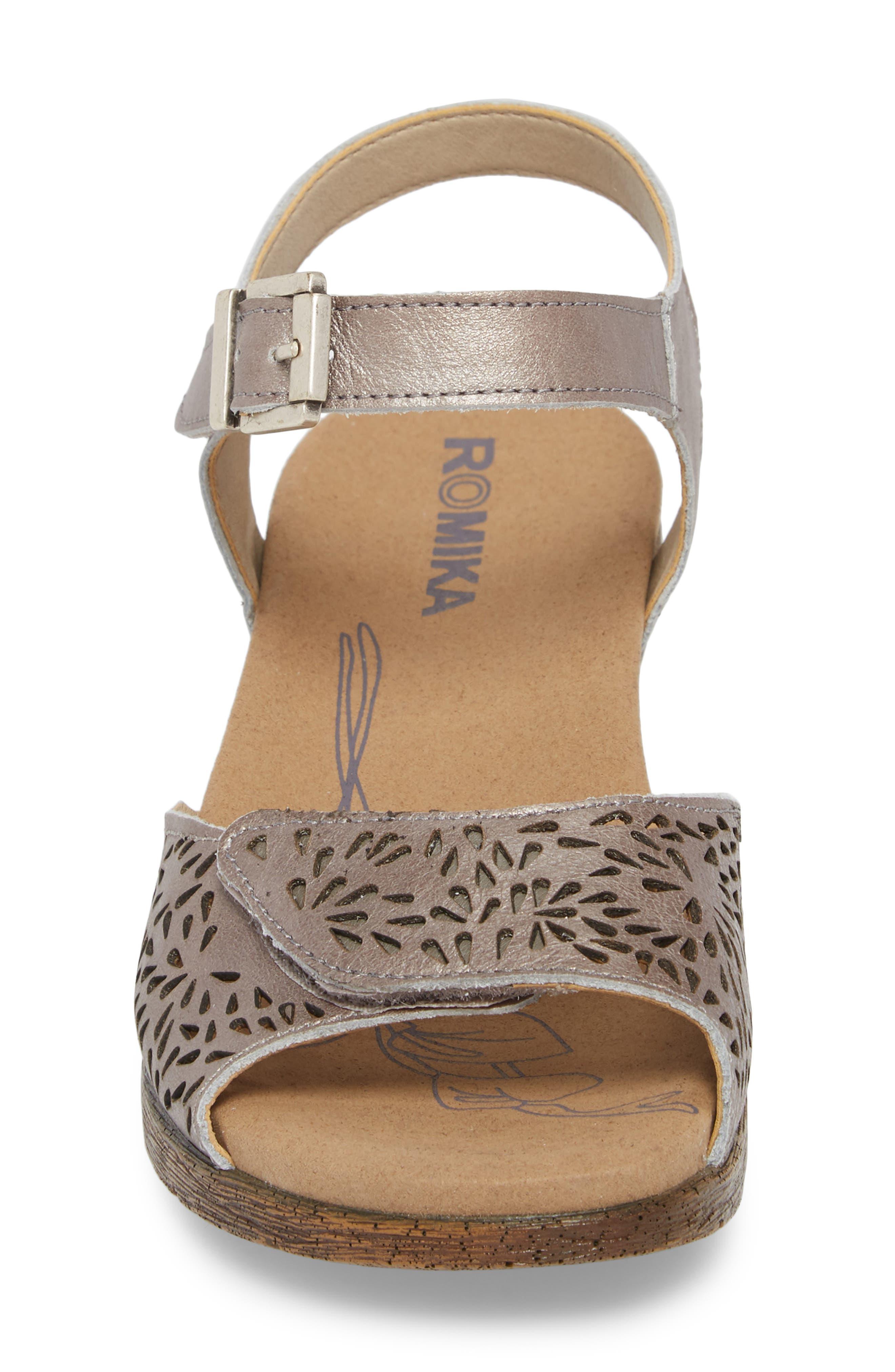 Nevis 05 Sandal,                             Alternate thumbnail 4, color,                             Platinum Leather