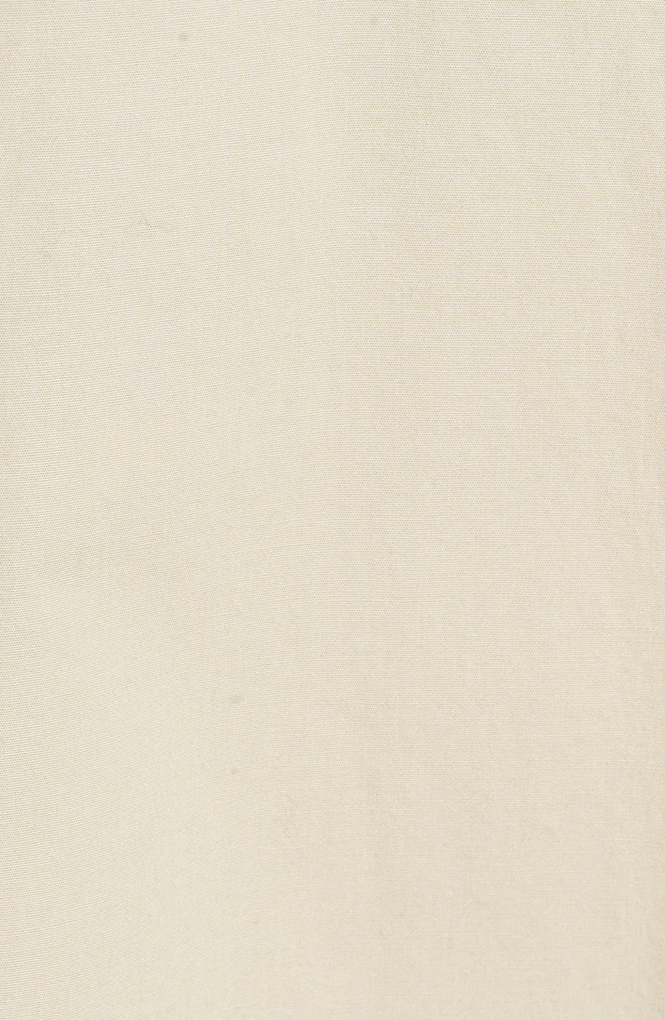 Organic Cotton Poplin Shirtdress,                             Alternate thumbnail 6, color,                             Pebble