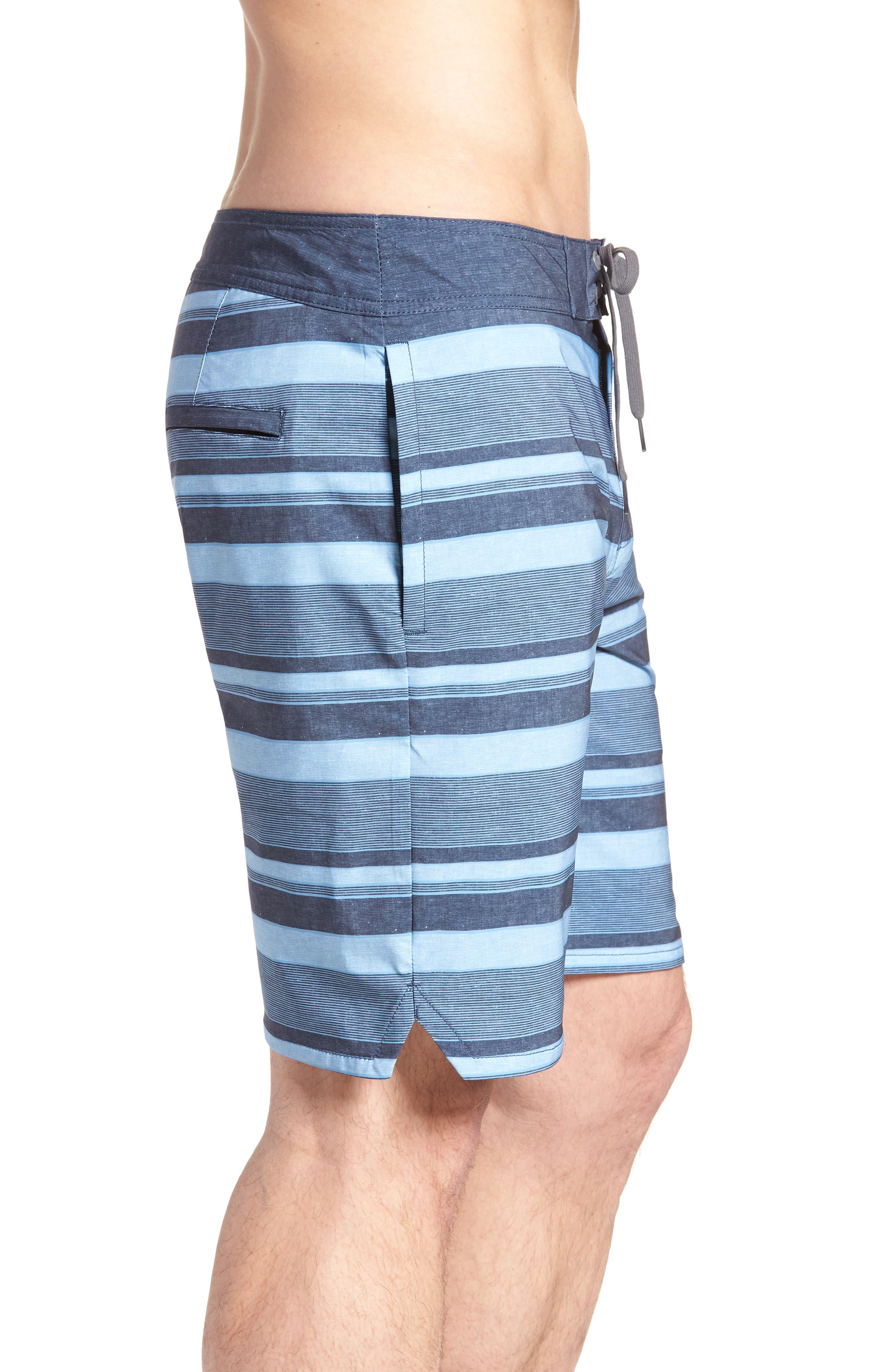 Colinas Regular Fit Board Shorts,                             Alternate thumbnail 5, color,                             Heather Bluestone