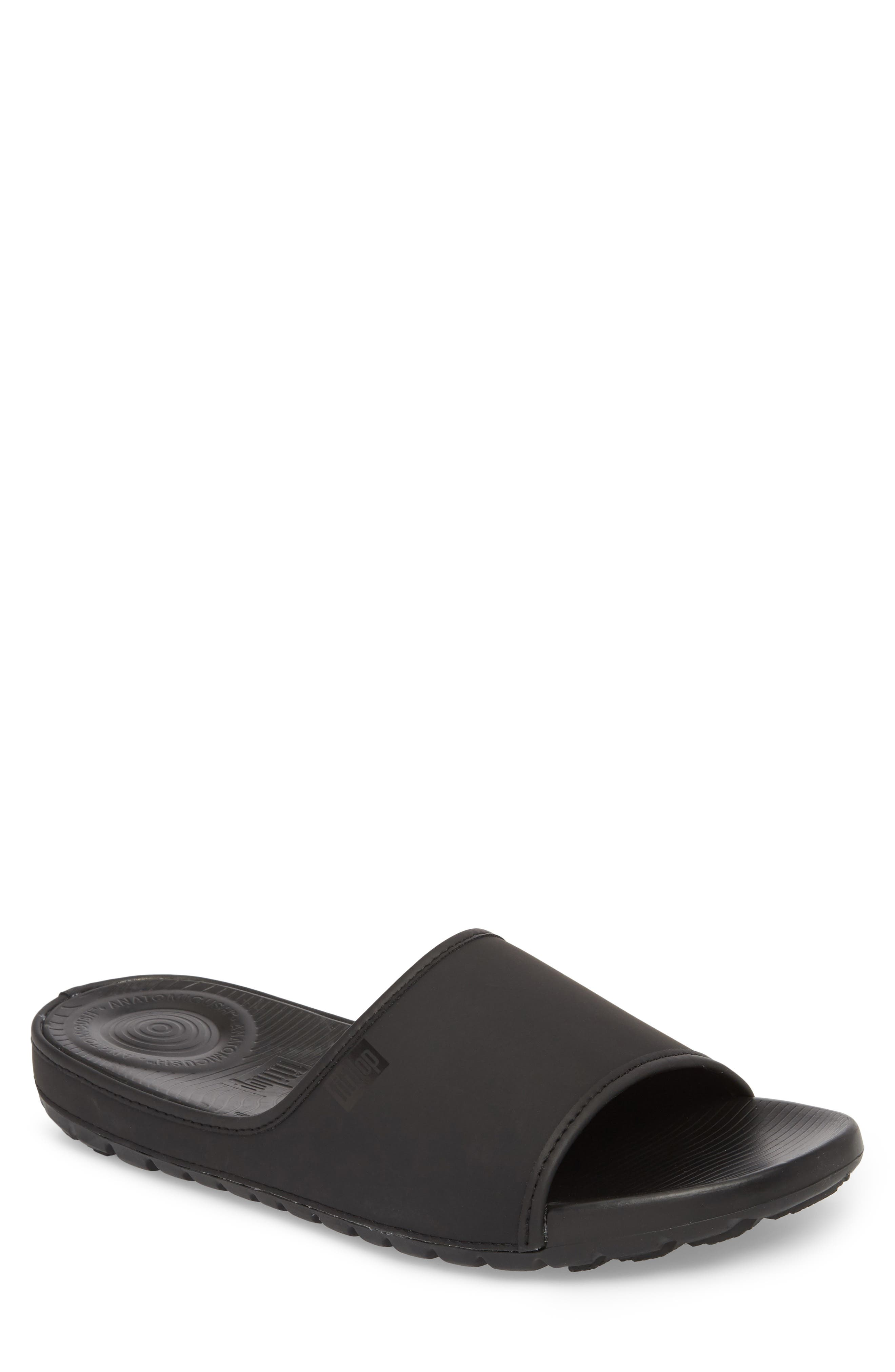 Lido Sport Slide,                             Main thumbnail 1, color,                             Black