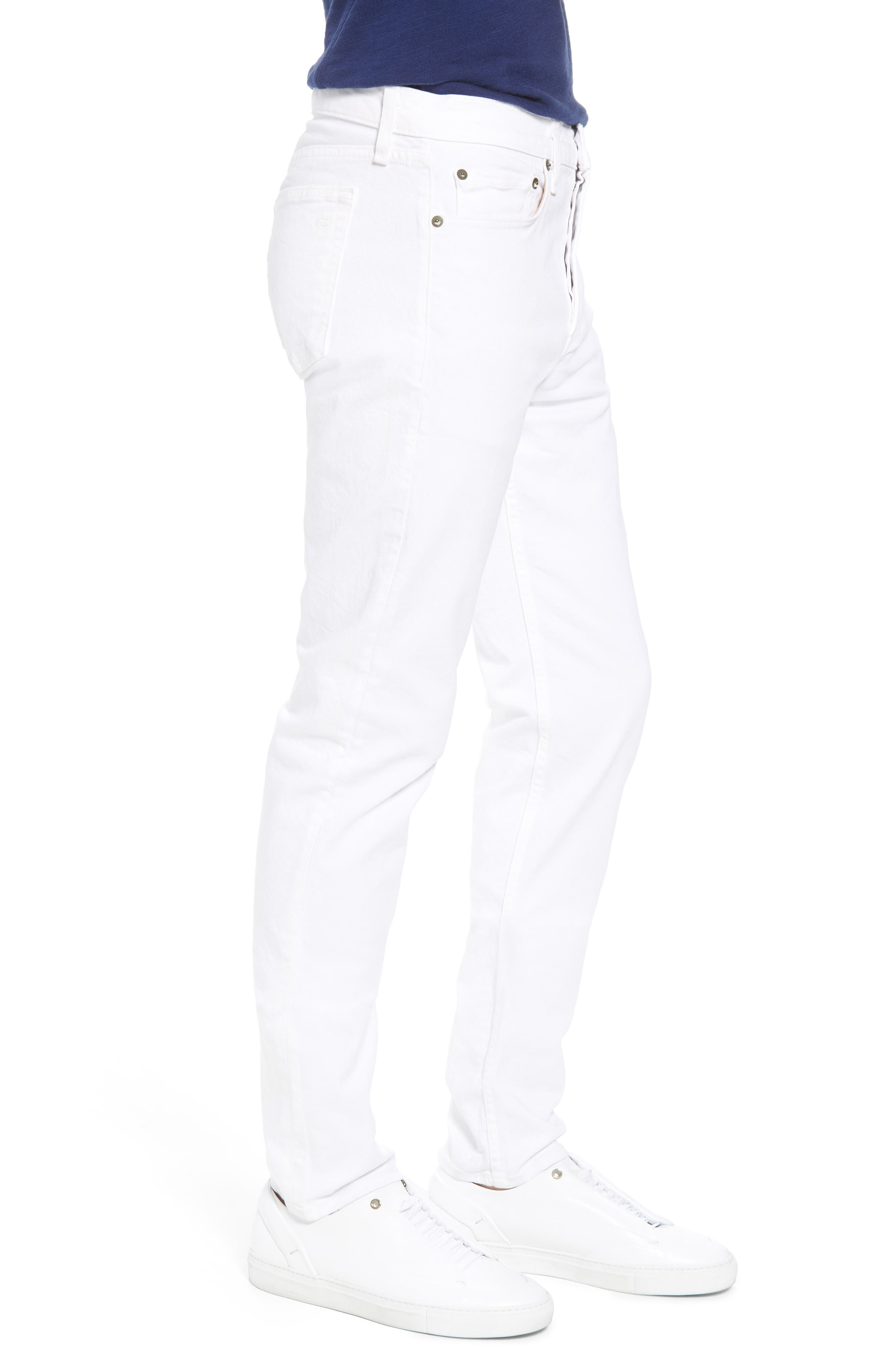 Fit 2 Slim Fit Jeans,                             Alternate thumbnail 3, color,                             White
