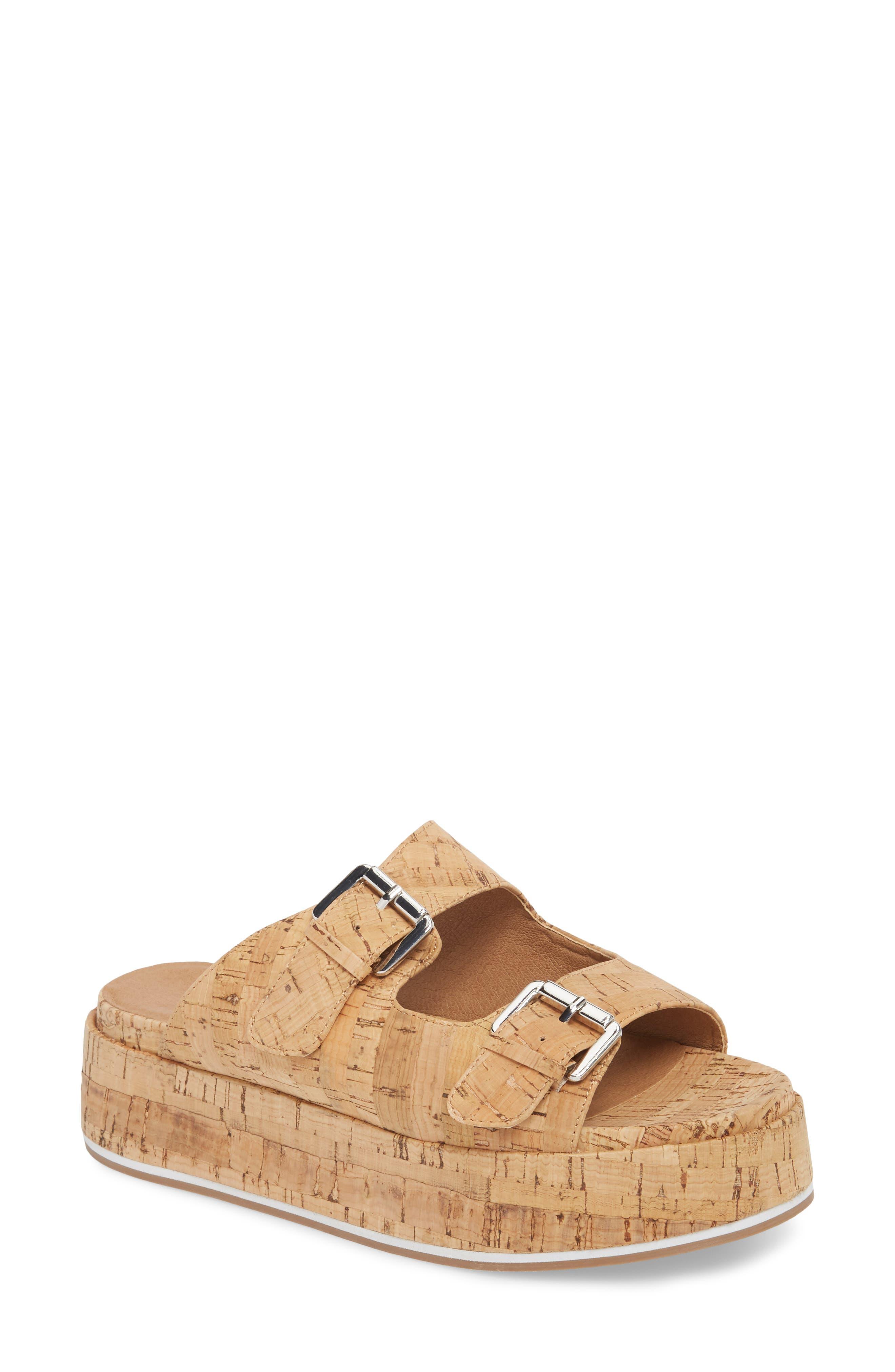 Jordan Two-Buckle Slide Sandal,                         Main,                         color, Cork