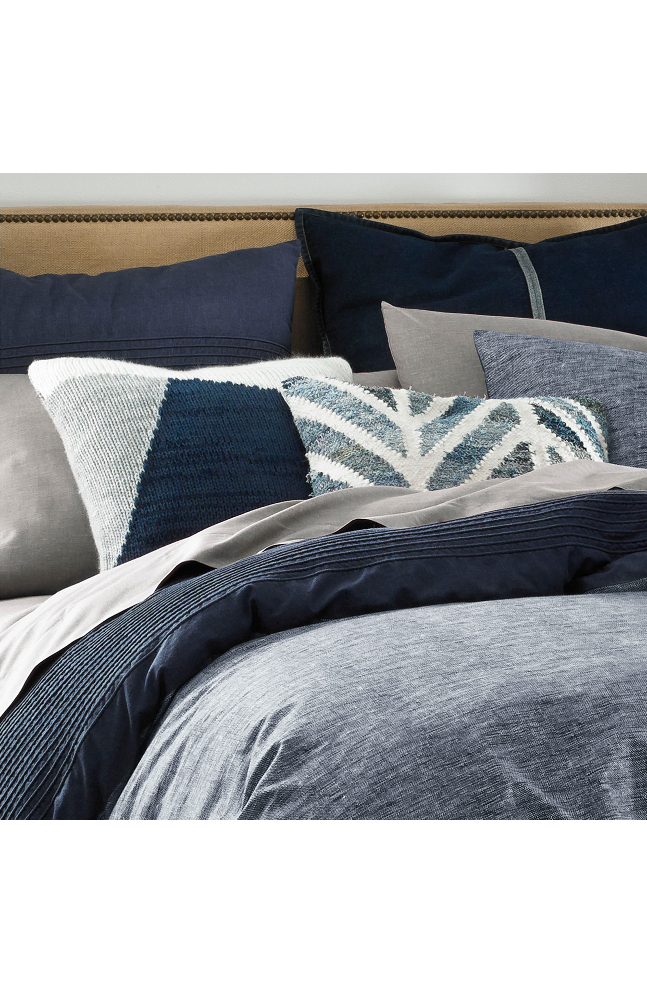 Vintage Pleated Comforter & Sham Set,                             Alternate thumbnail 3, color,                             Denim Blue