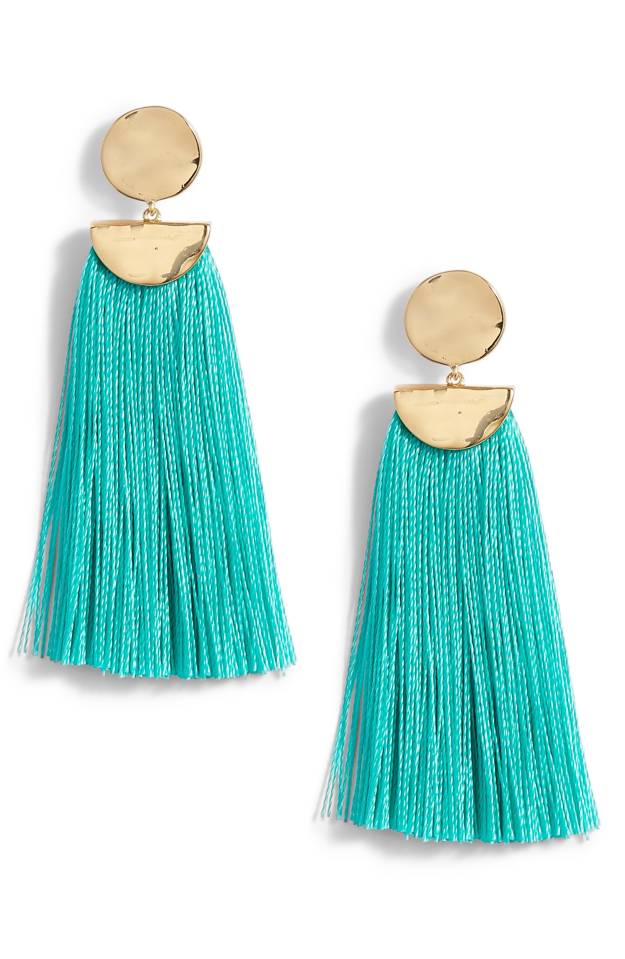 gorjana Havana Circle Tassel Earrings