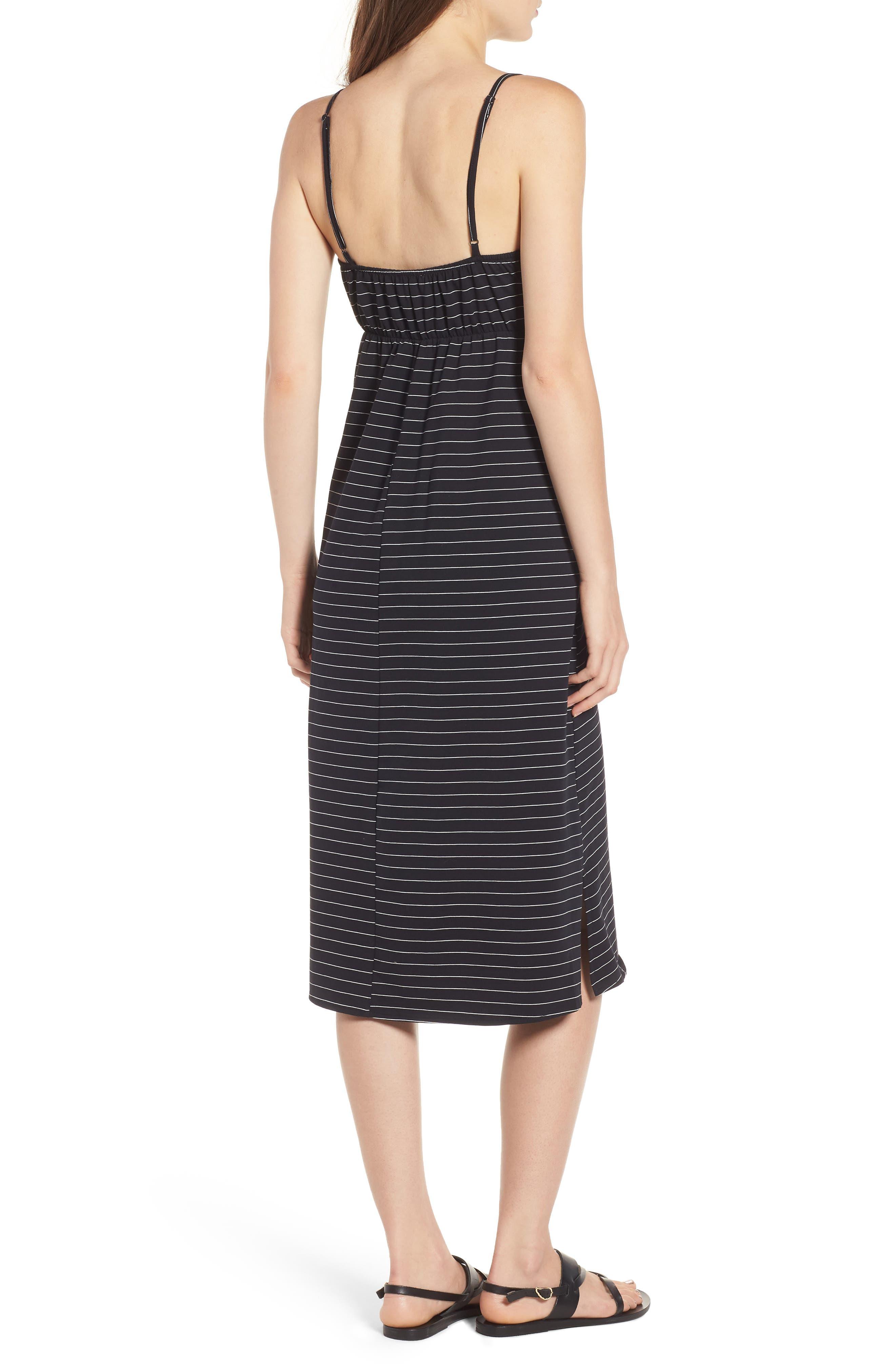 Suzanne Knot Front Dress,                             Alternate thumbnail 3, color,                             Black