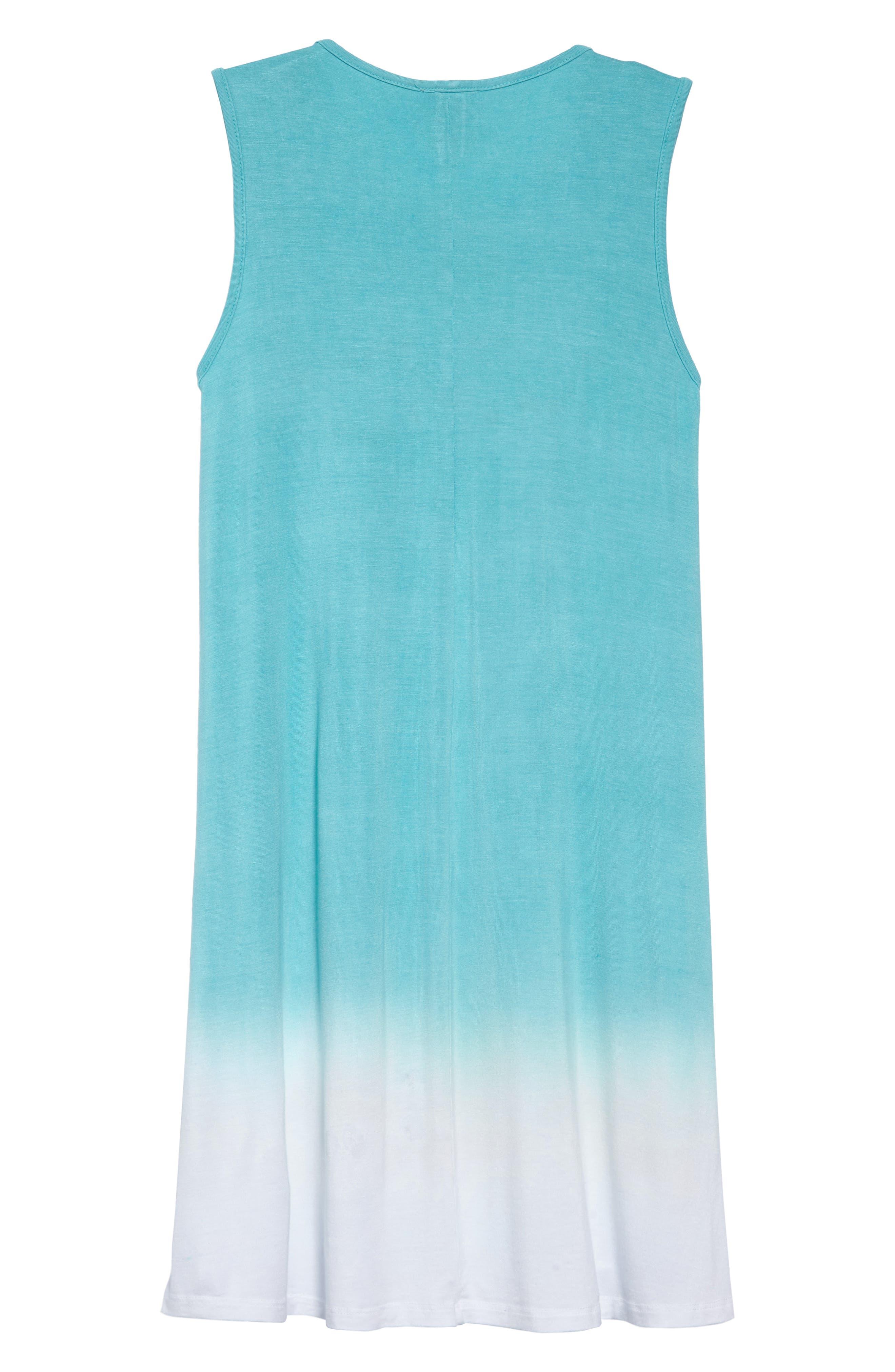 Grenadine Ombré T-Shirt Dress,                             Alternate thumbnail 2, color,                             Pool Blue
