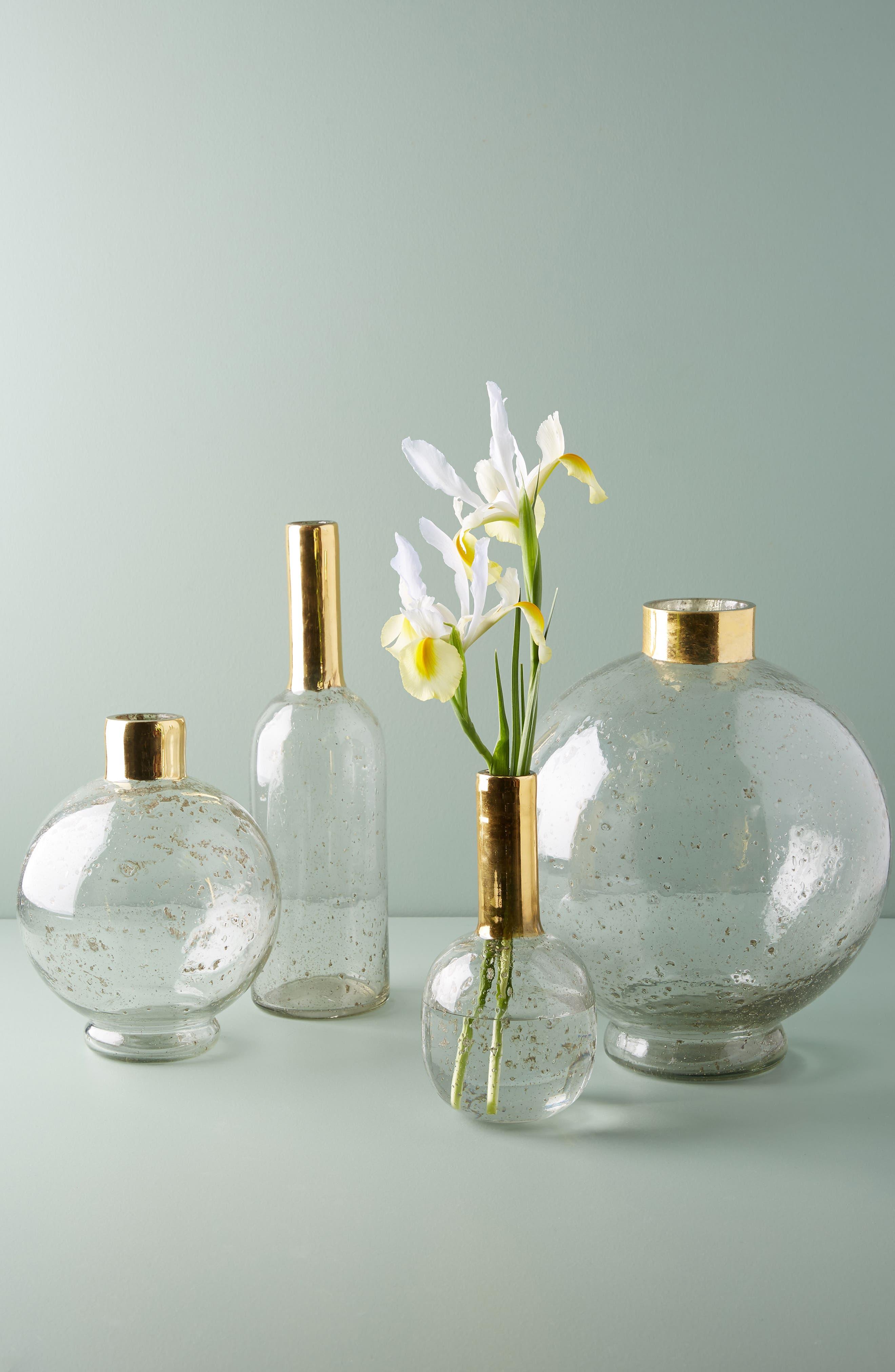 Gilded Large Sphere Vase,                             Alternate thumbnail 3, color,                             Gold