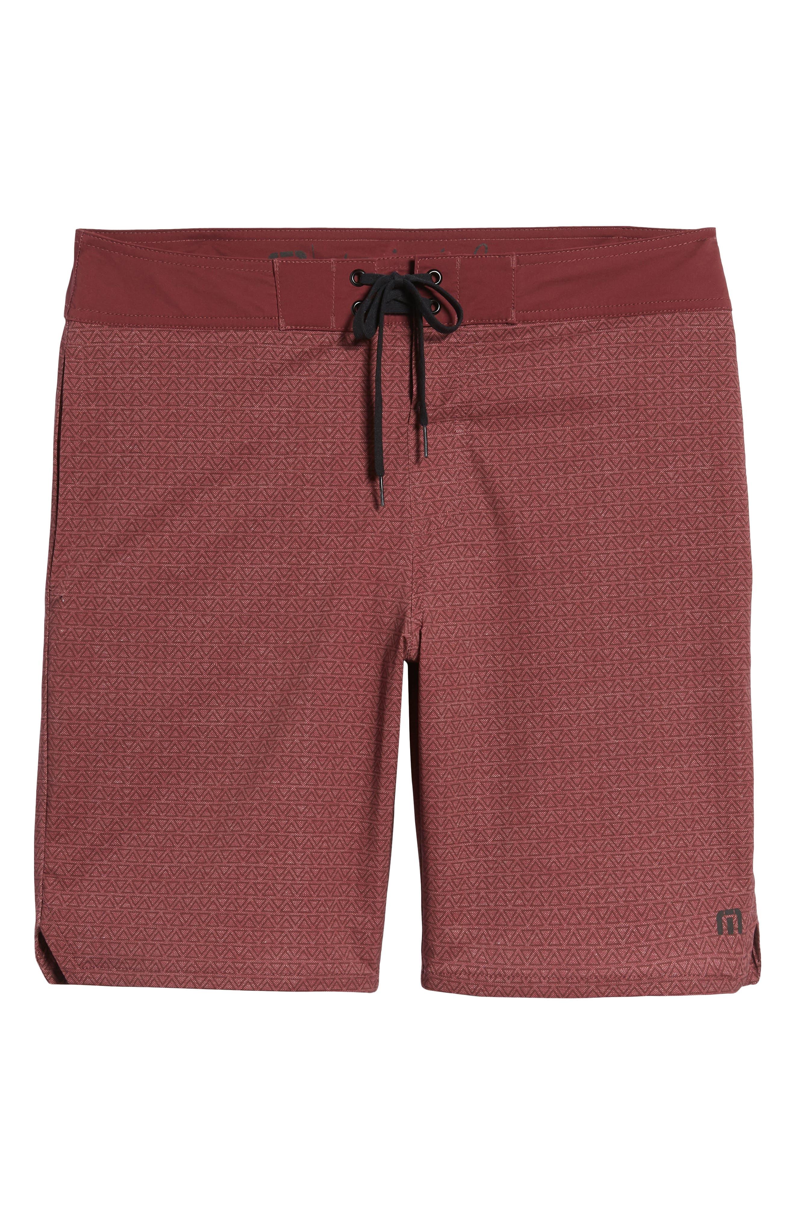 Blanders Regular Fit Board Shorts,                             Alternate thumbnail 6, color,                             Oxblood